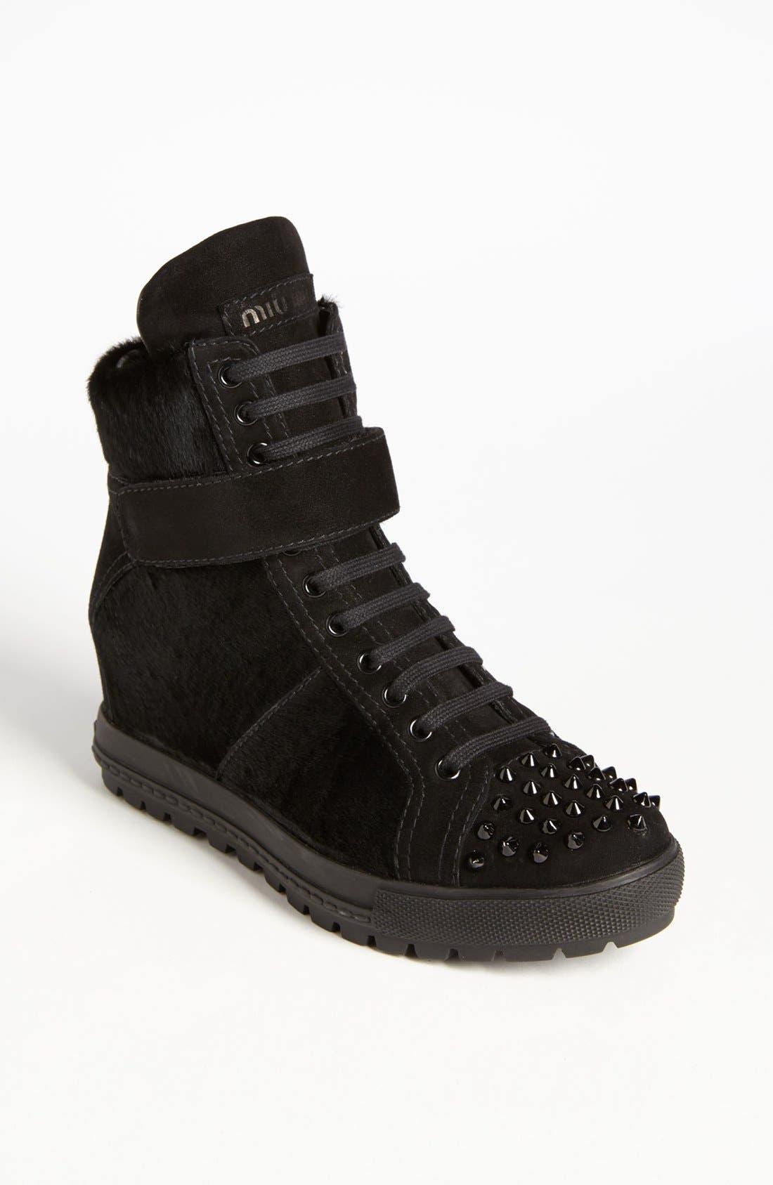 Main Image - Miu Miu Wedge Sneaker