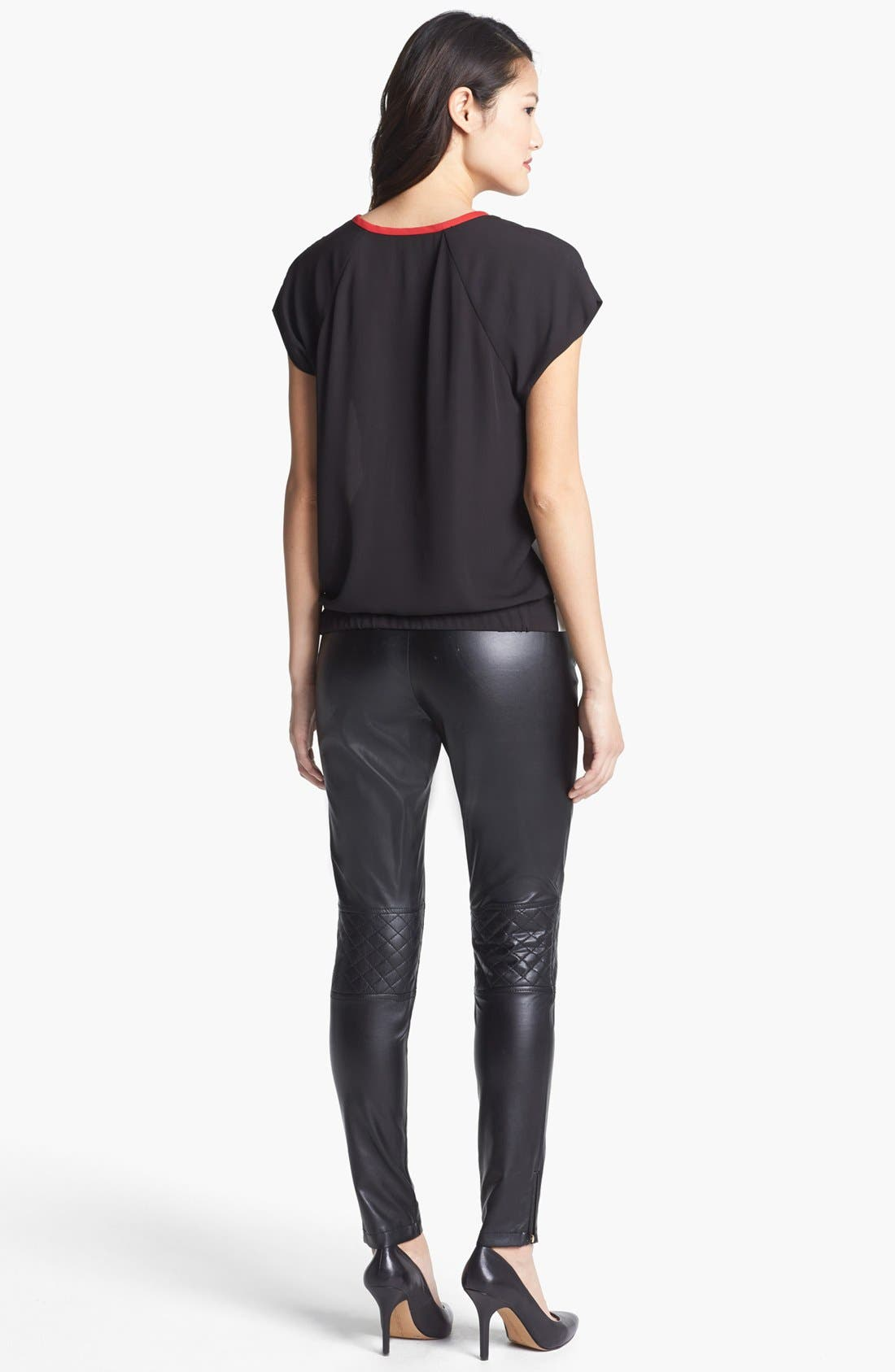 Alternate Image 3  - Vince Camuto Quilted Detail Faux Leather Pants (Regular & Petite)