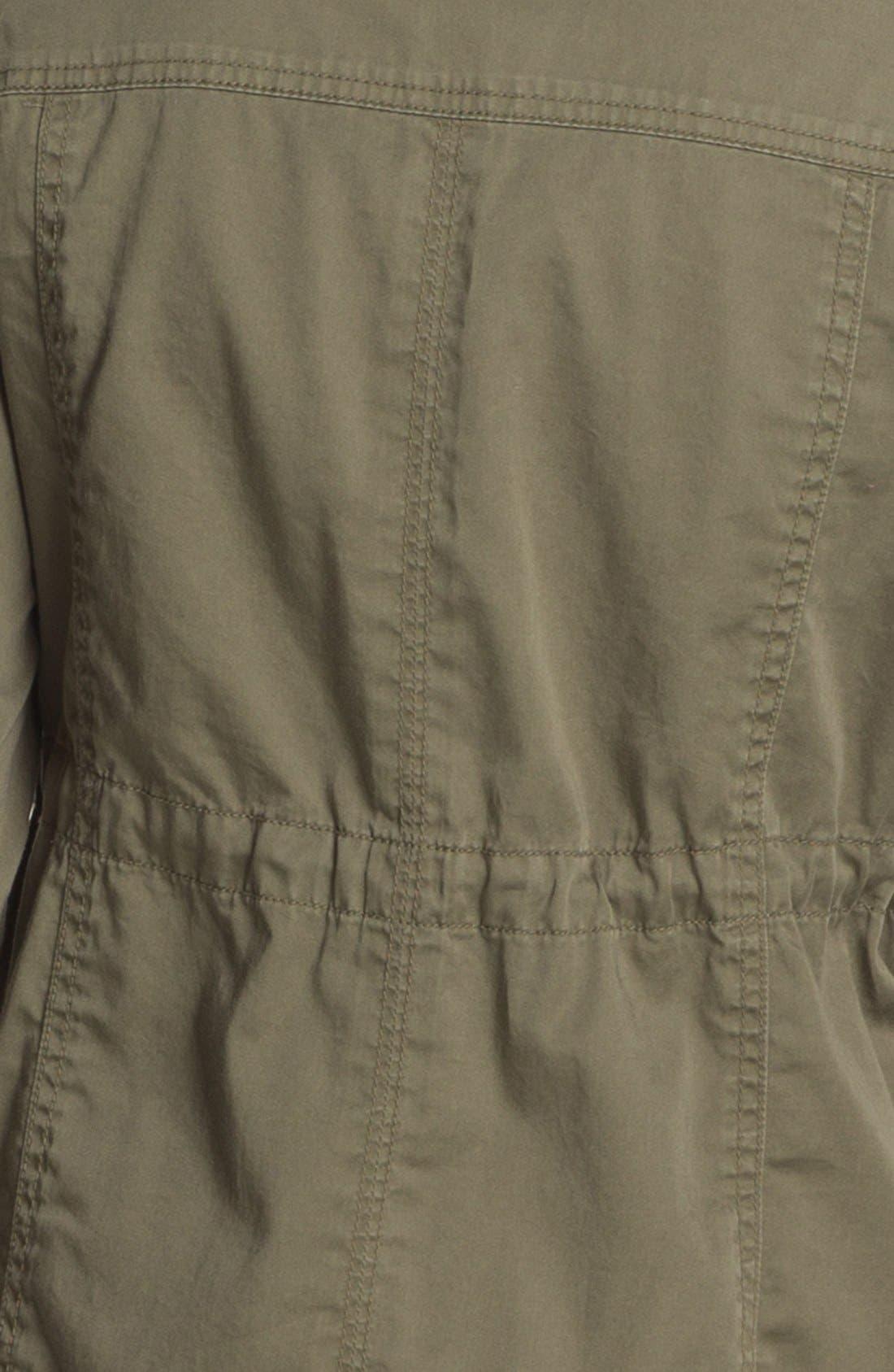 Alternate Image 4  - Caslon® Roll Sleeve Utility Jacket (Petite)
