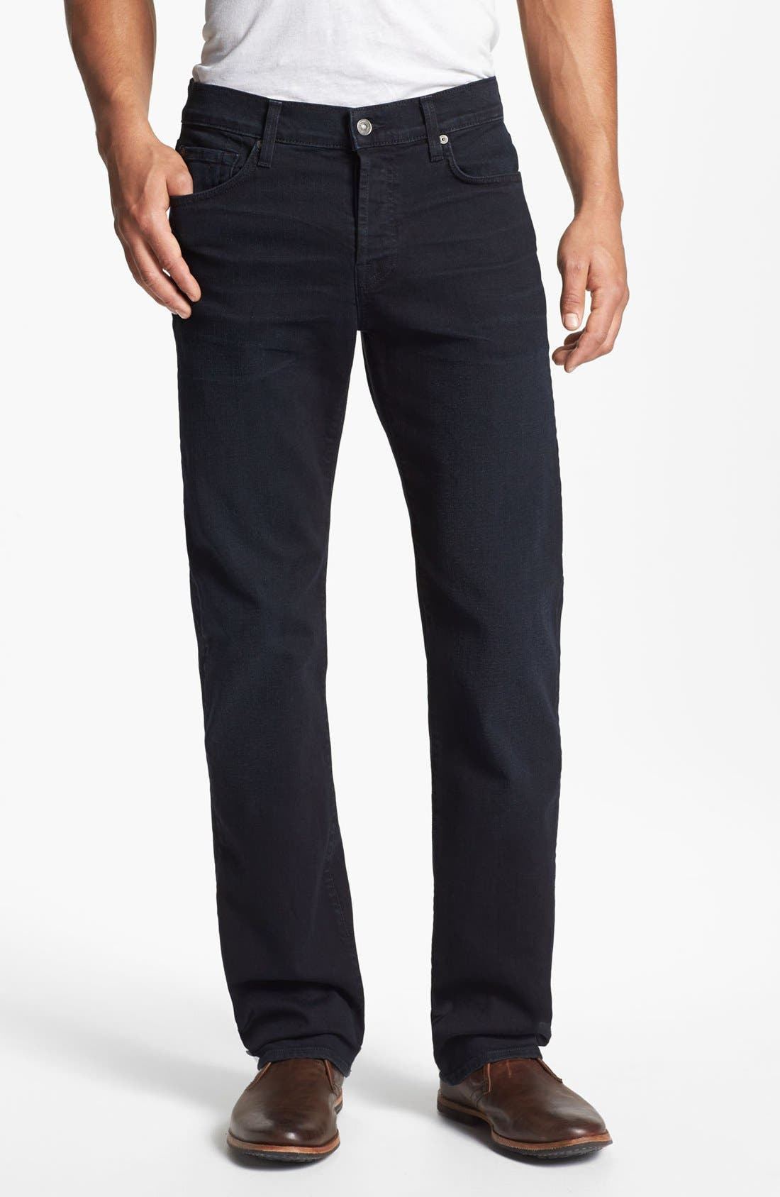 Alternate Image 2  - 7 For All Mankind® 'Standard' Straight Leg Jeans (Castaic Lake)