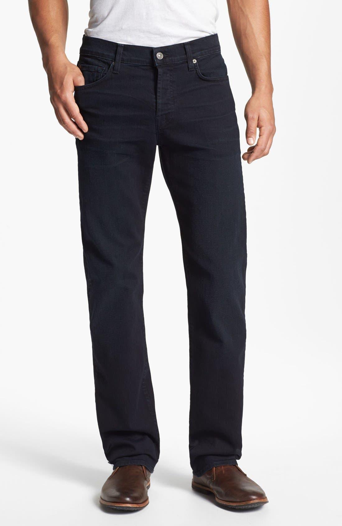 Alternate Image 2  - 7 For All Mankind® 'Standard' Straight Leg Jeans (Castaic Lake)