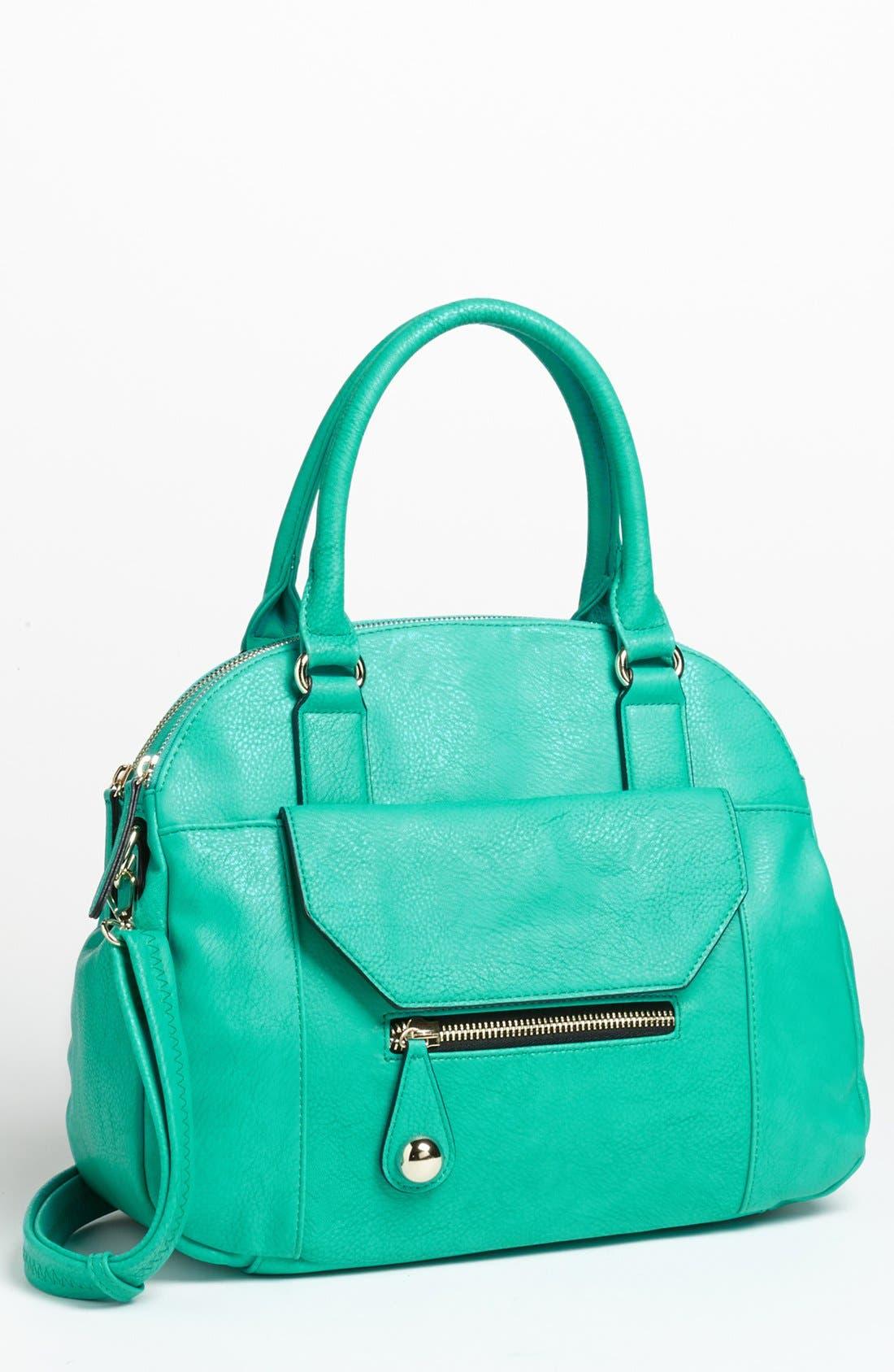 Alternate Image 1 Selected - Emperia Faux Leather Tote Bag (Juniors)