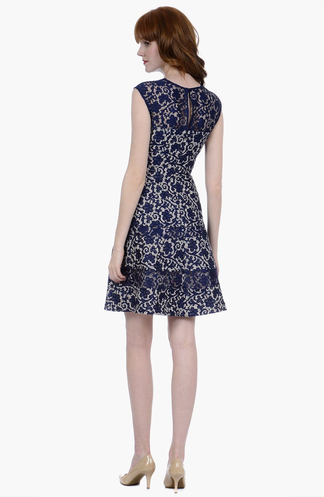 Alternate Image 2  - Kay Unger Lace Fit & Flare Dress