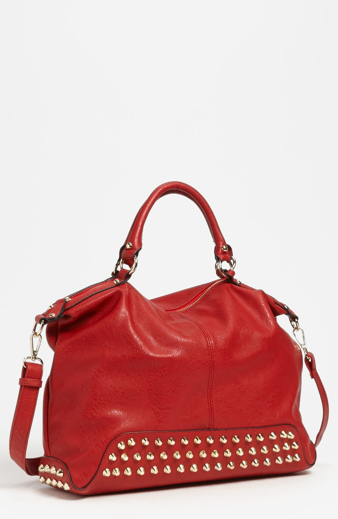 Alternate Image 1 Selected - Emperia Studded Faux Leather Tote (Juniors) (Online Only)