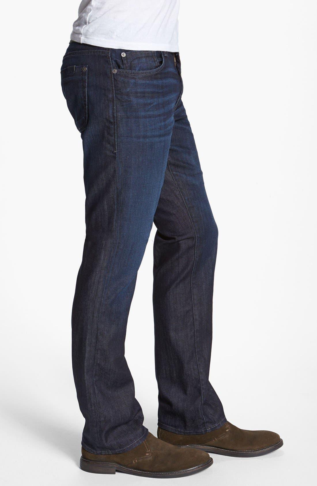Alternate Image 3  - Fidelity Denim 'Impala' Straight Leg Jeans (Lennon Dark Wash)