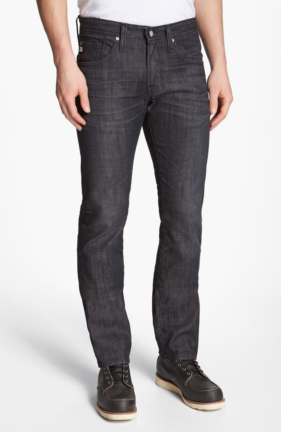 Alternate Image 1 Selected - AG 'Matchbox' Slim Fit Jeans (1 Year Black)