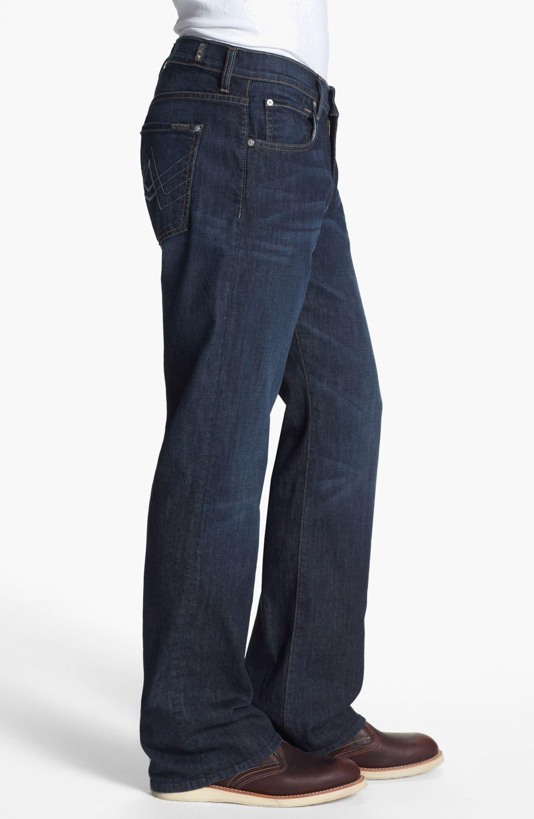 Alternate Image 3  - 7 For All Mankind® 'Brett' Bootcut Jeans (Worn Hawthorne)