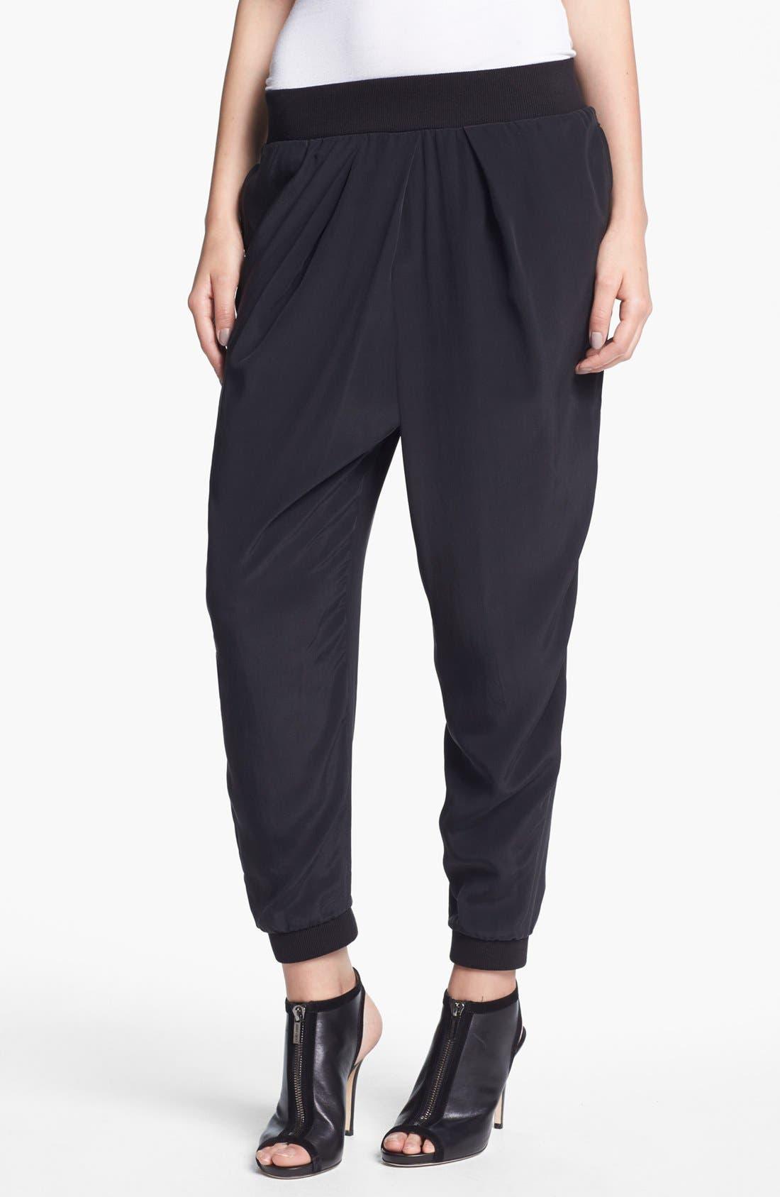 Alternate Image 1 Selected - Elizabeth and James 'Benjamin' Silk Trousers