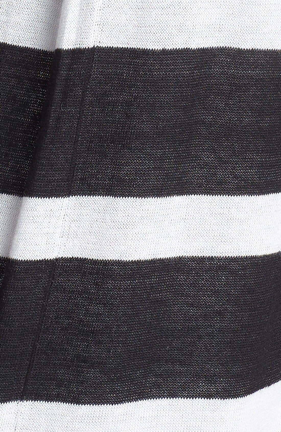 Alternate Image 3  - Two by Vince Camuto Stripe Back Pleat Sweater