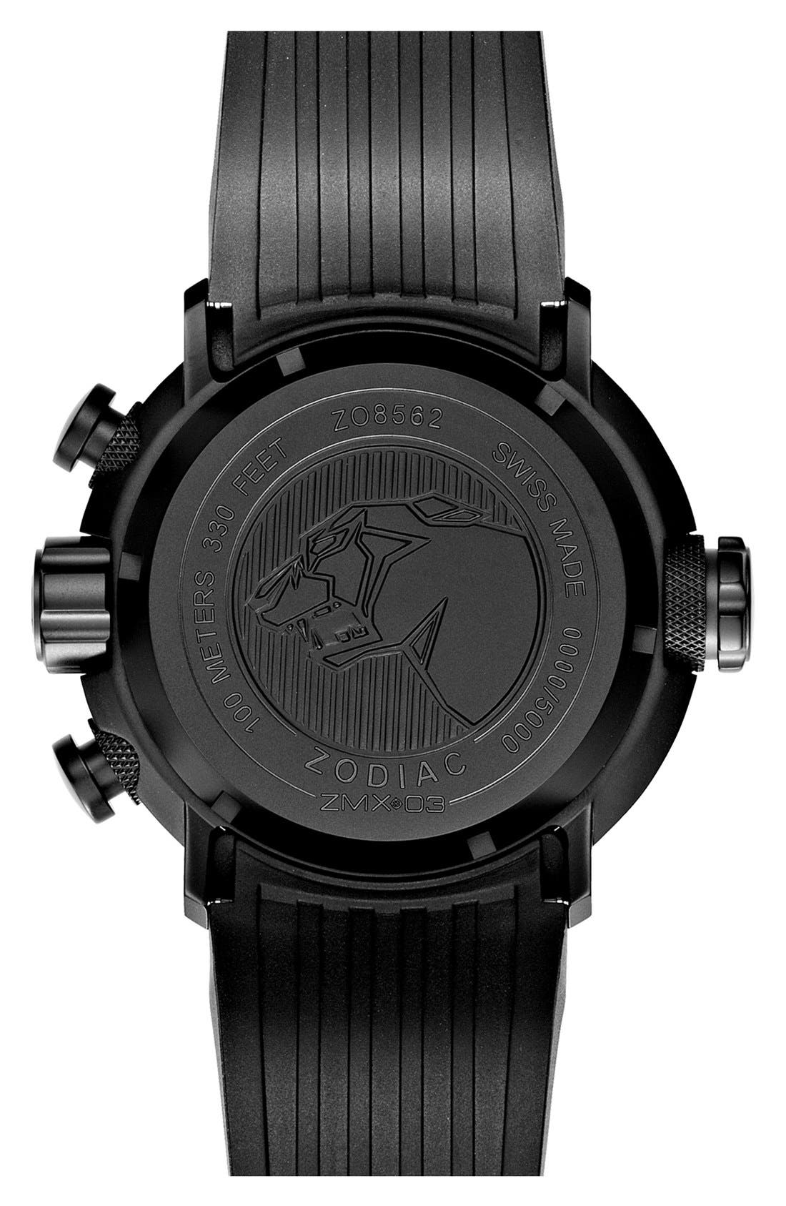 Alternate Image 2  - Zodiac 'Special Ops' Chronograph Rubber Strap Watch, 50mm