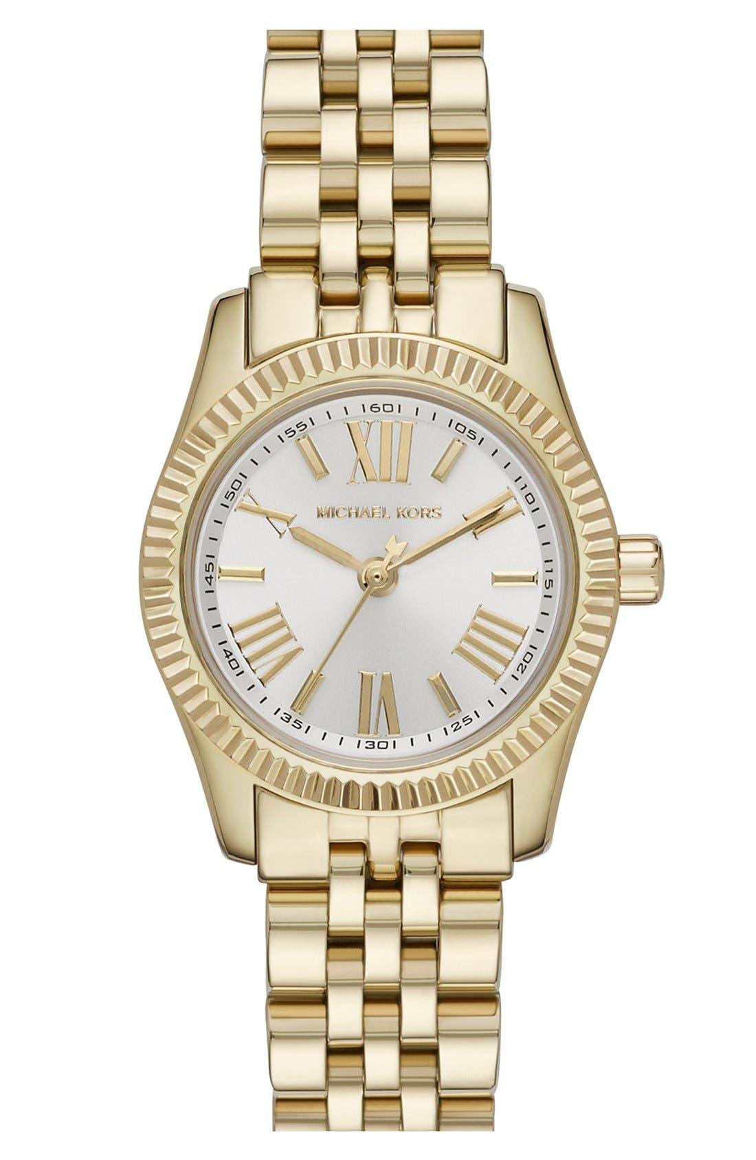 Main Image - Michael Kors 'Petite Lexington' Bracelet Watch, 26mm