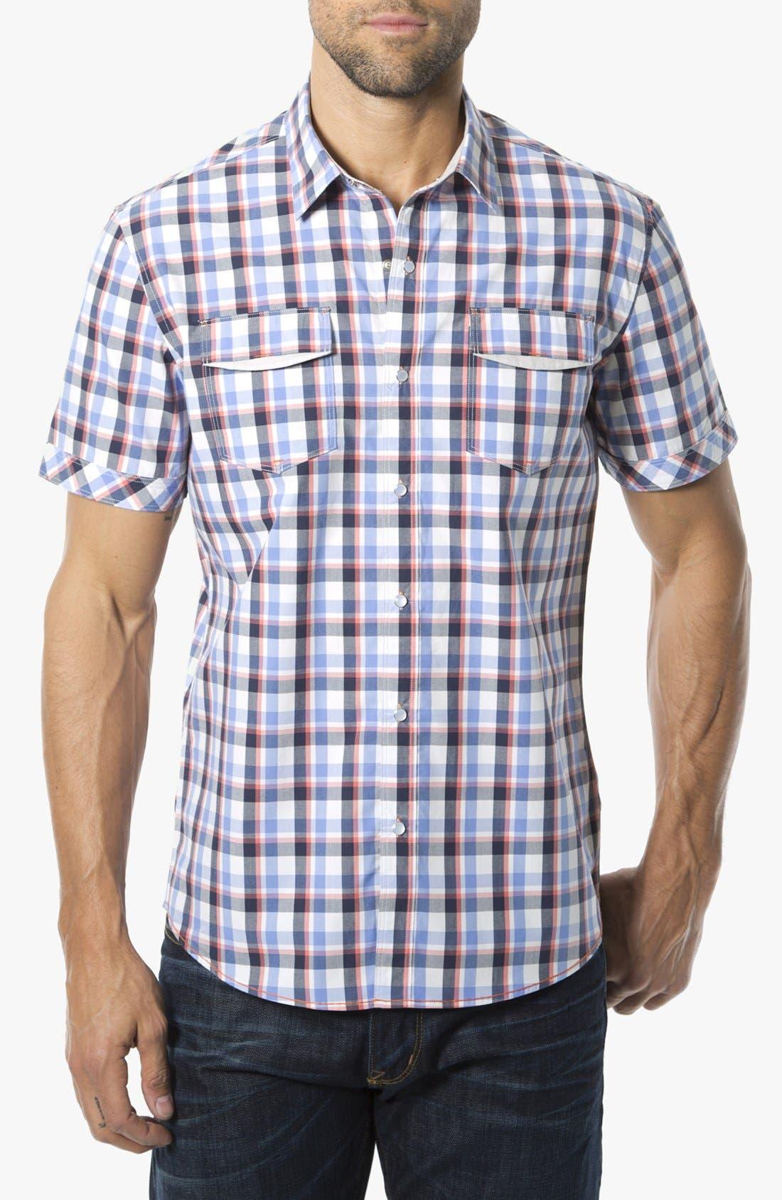Alternate Image 1 Selected - 7 Diamonds 'Quick Exit' Woven Short Sleeve Shirt