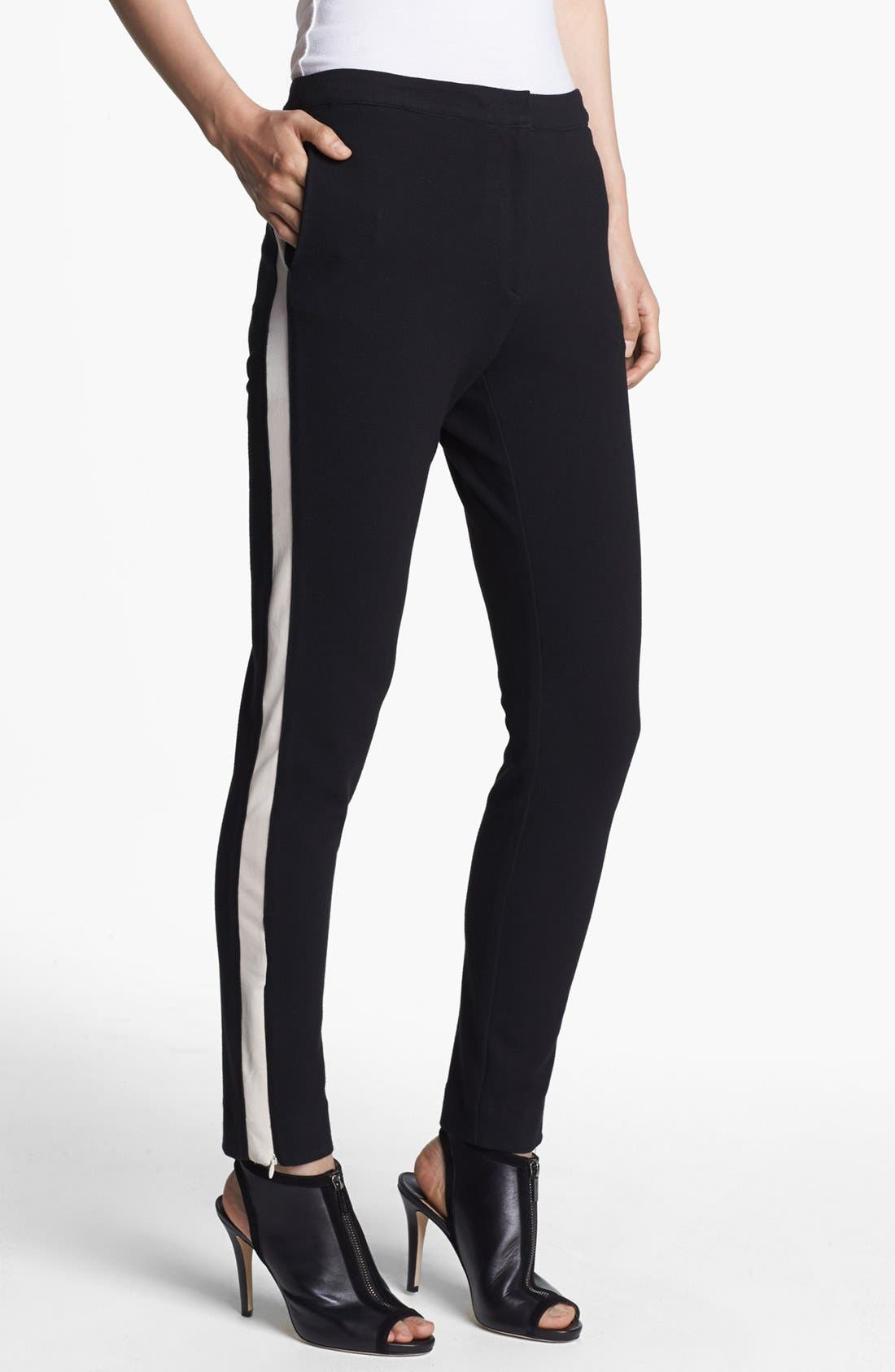 Main Image - Halston Heritage Skinny Tuxedo Stripe Pants