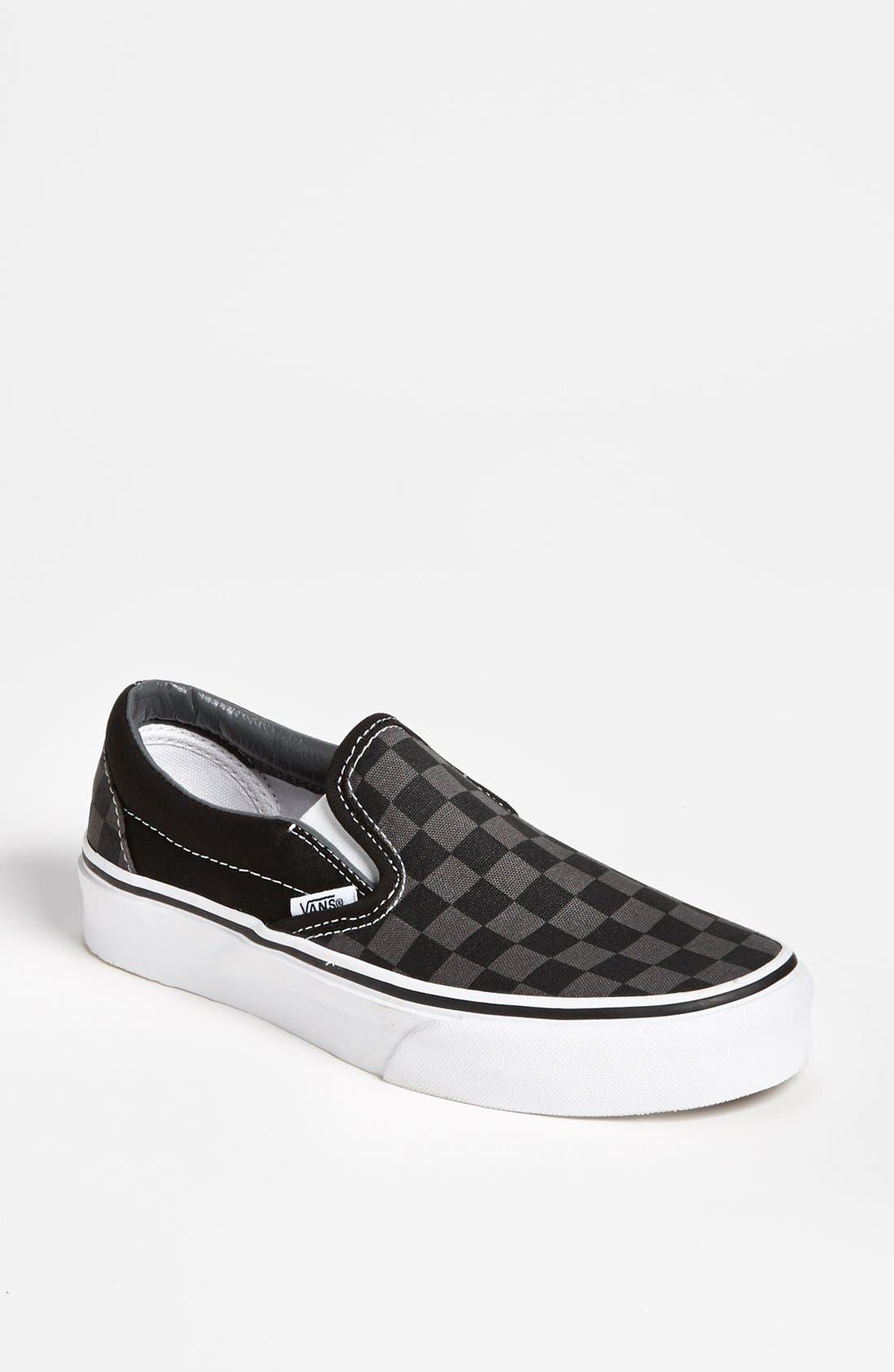 Alternate Image 1 Selected - Vans 'Classic - Checker' Sneaker (Women)