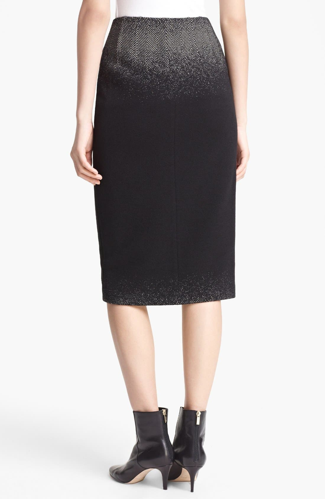 Alternate Image 2  - Lida Baday Ombré Jacquard Pencil Skirt