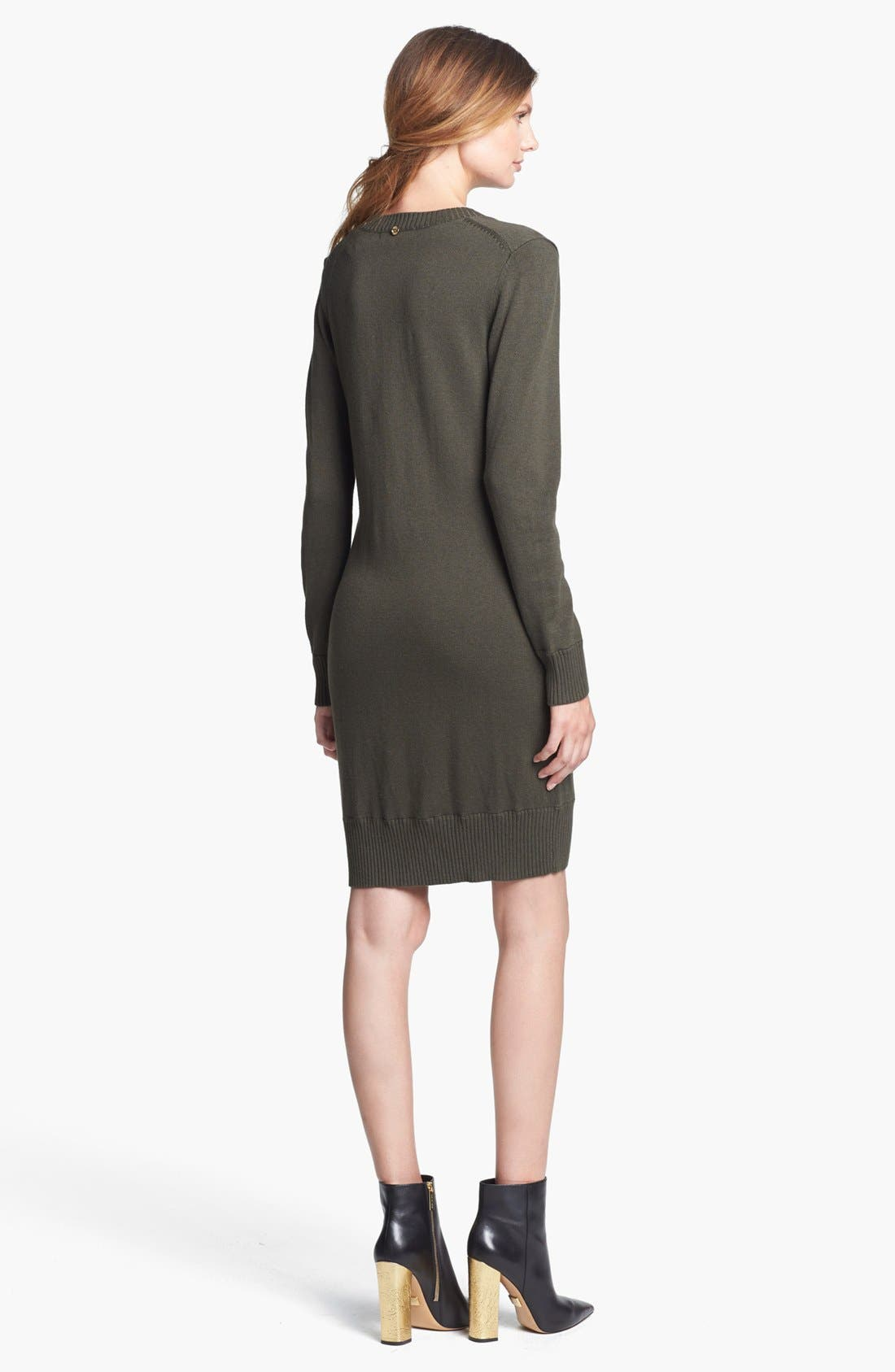 Alternate Image 2  - MICHAEL Michael Kors Sweater Dress with Detachable Cowl