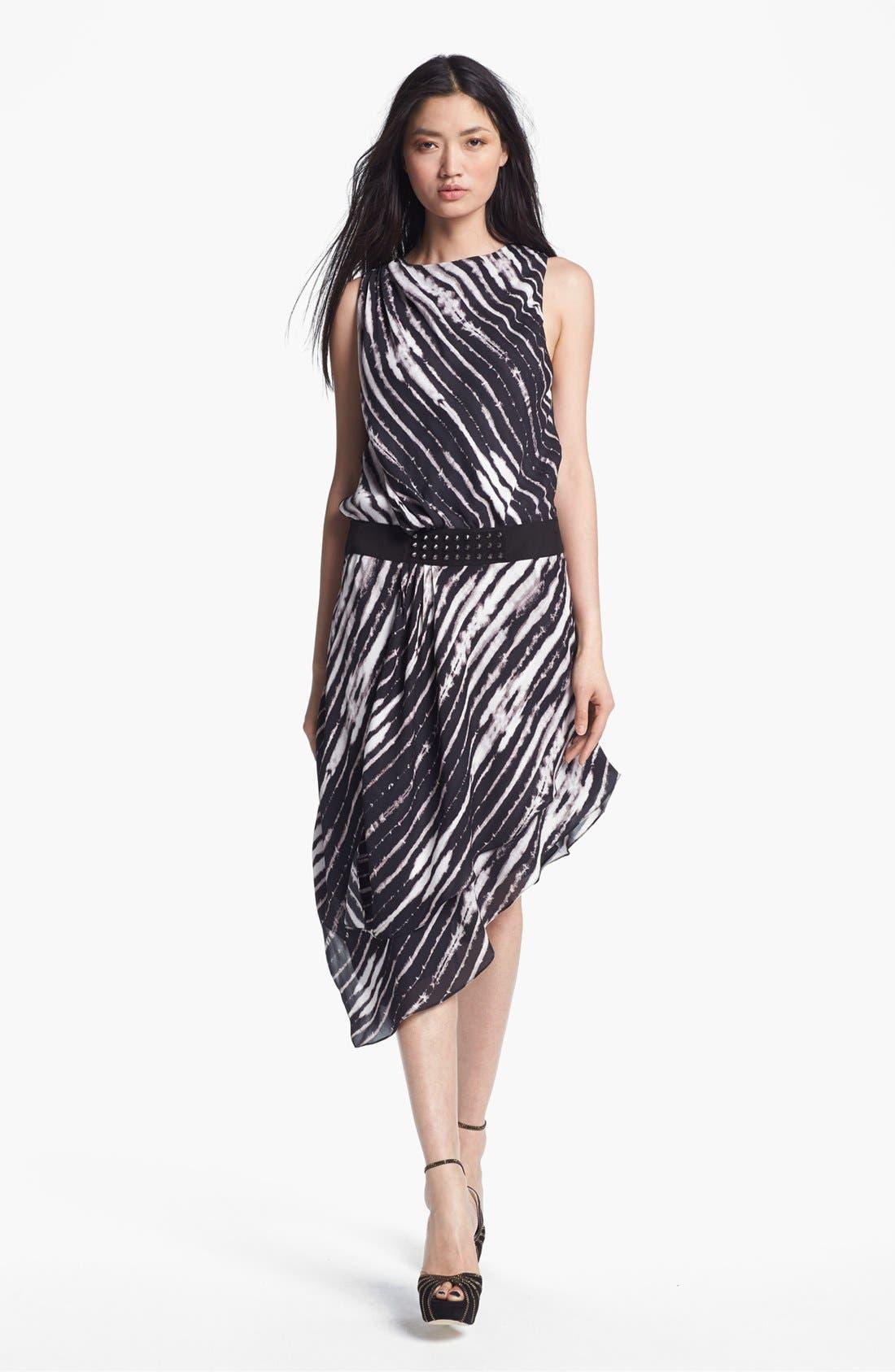 Alternate Image 1 Selected - Haute Hippie Belted Print Silk Dress