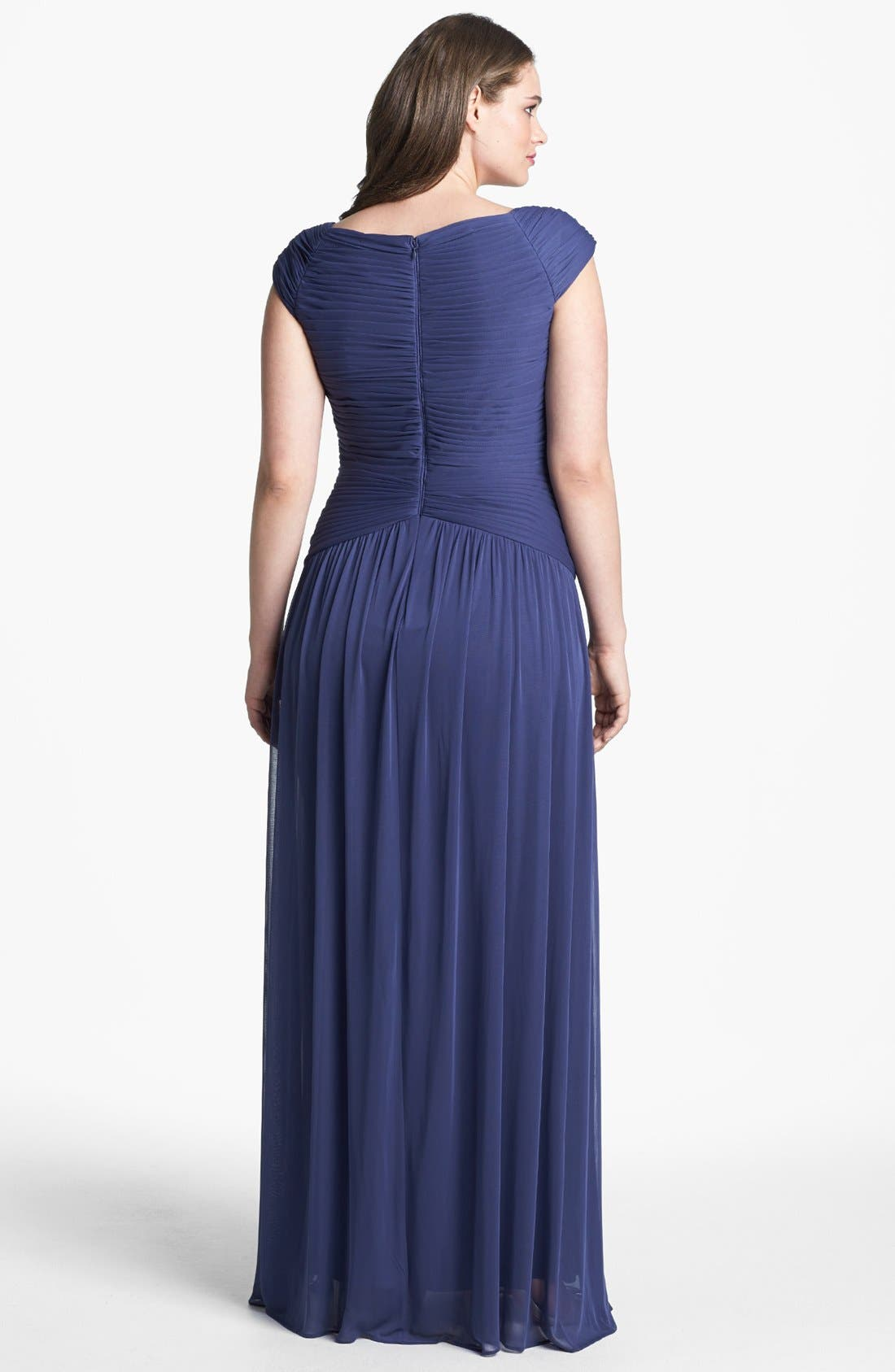 Alternate Image 2  - Adrianna Papell Embellished Pleat Gown (Plus Size)