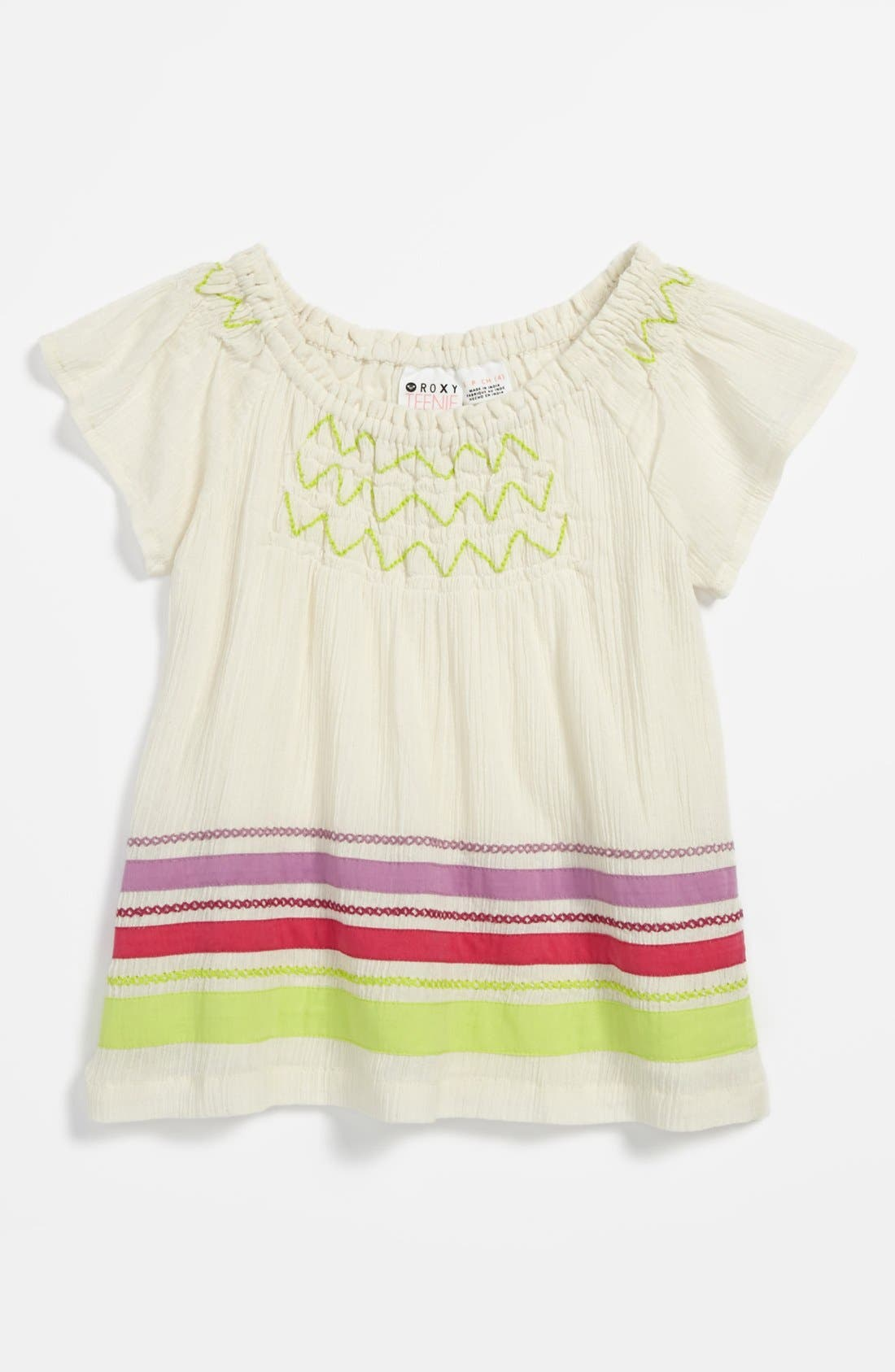 Main Image - 'Free Heights' Woven Top (Little Girls)