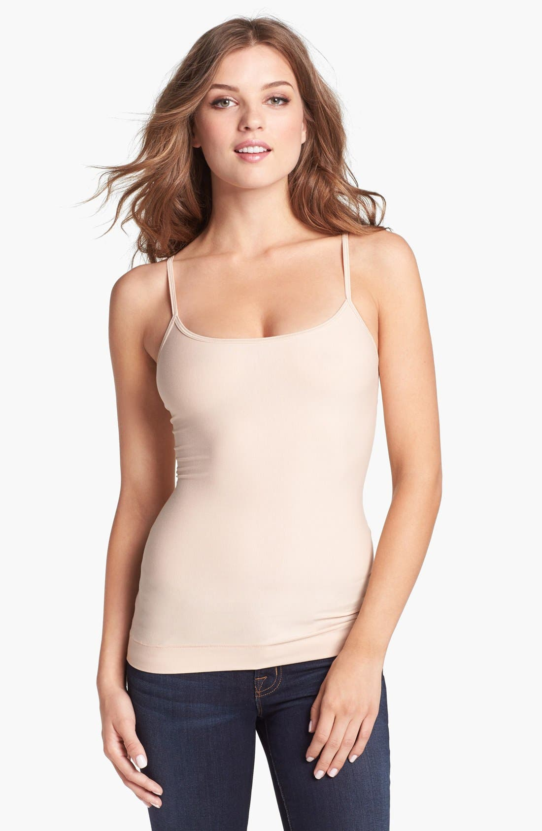 Main Image - NEARLY NUDE 'Smooth Cotton' Camisole Shaper