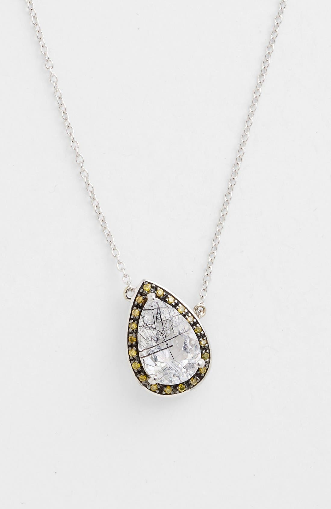 Alternate Image 1 Selected - Whitney Stern Quartz & Canary Diamond Pendant Necklace