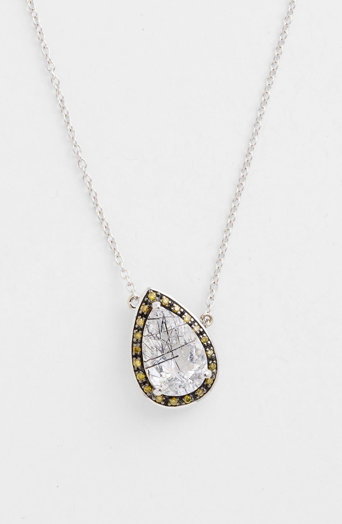 Main Image - Whitney Stern Quartz & Canary Diamond Pendant Necklace