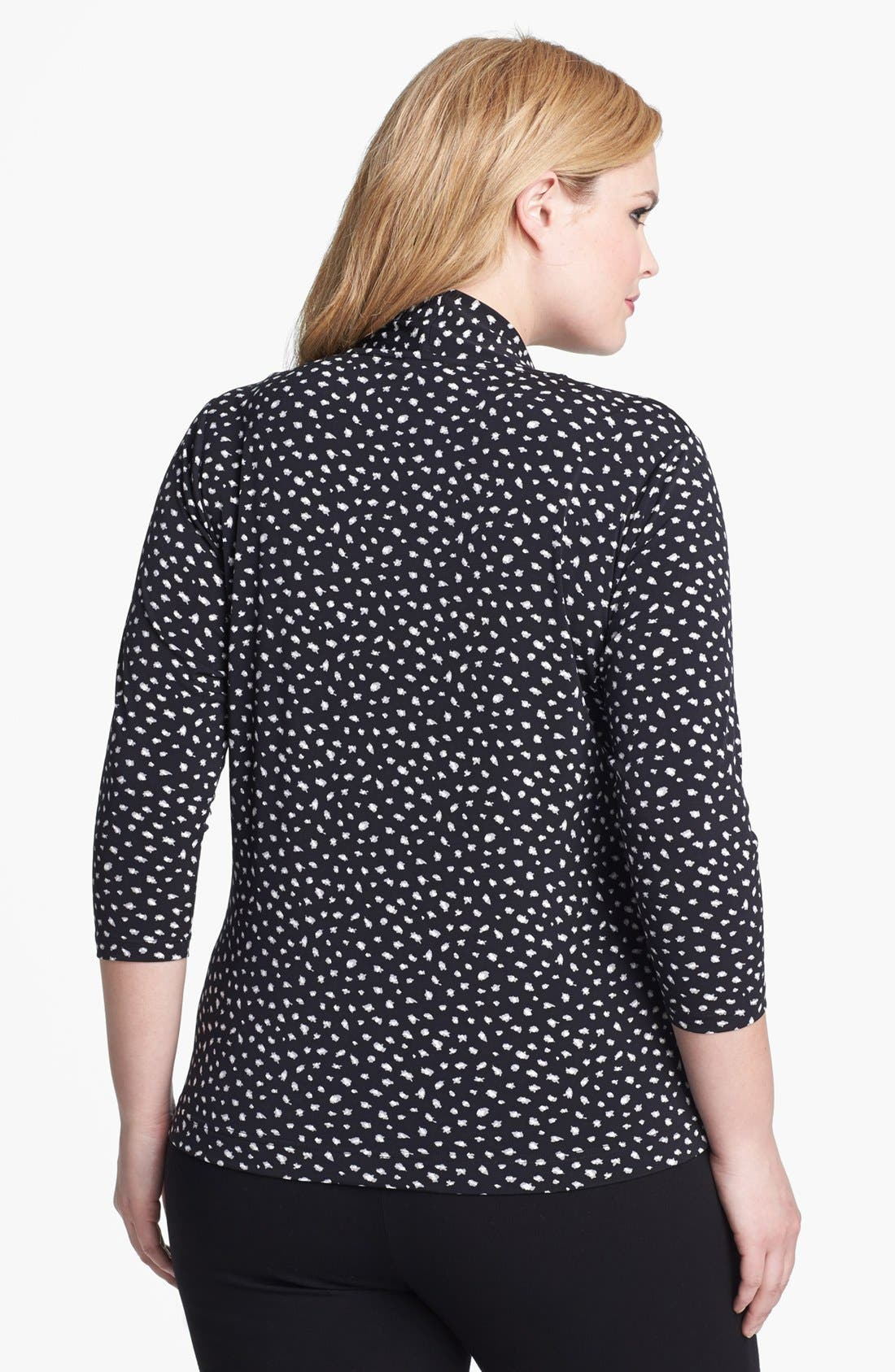 Alternate Image 2  - Vince Camuto Print Faux Wrap Top (Plus Size)