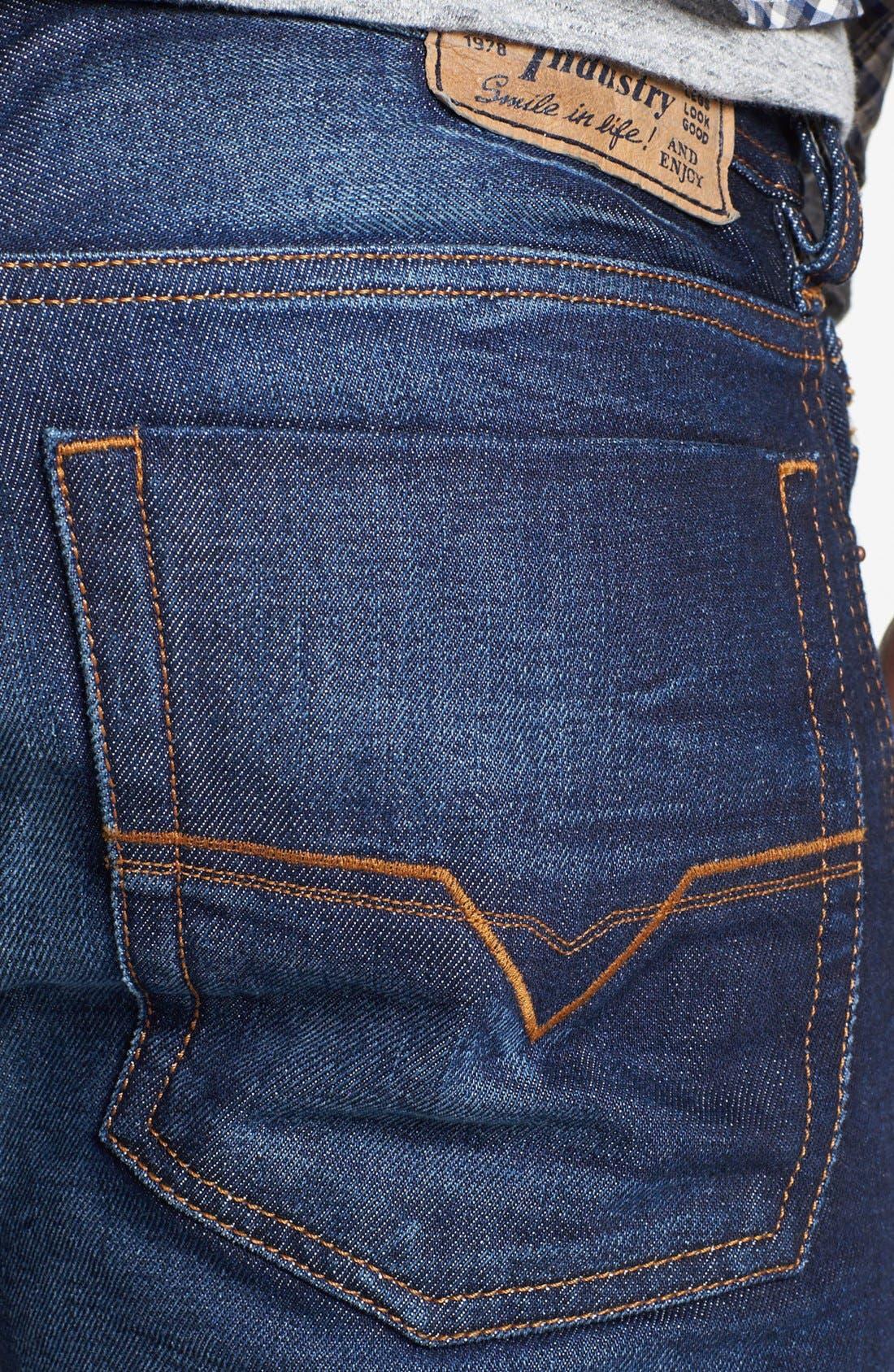 Alternate Image 4  - DIESEL® 'Zatiny' Micro Bootcut Jeans (73N)