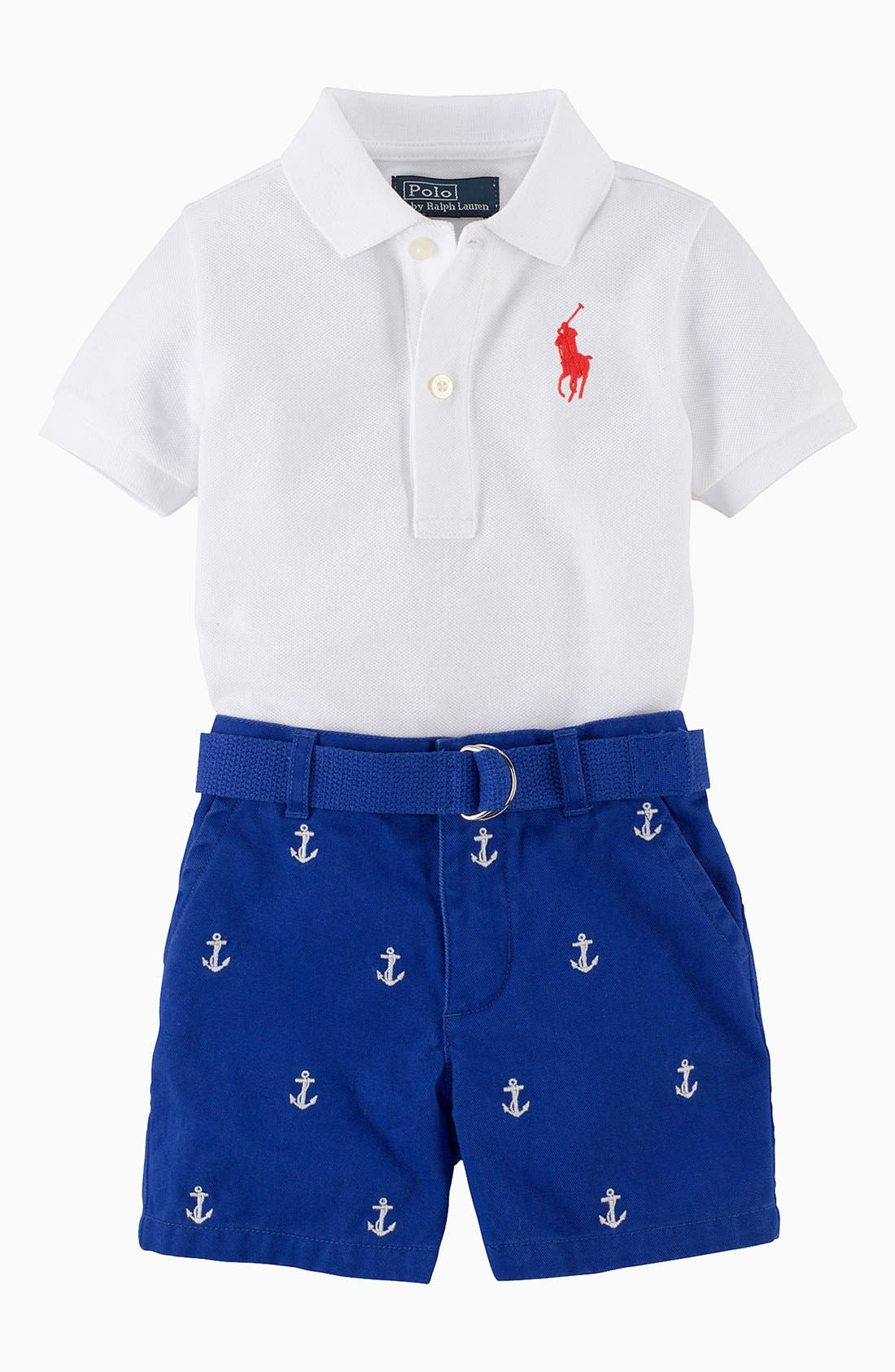 Alternate Image 2  - Ralph Lauren Polo & Shorts (Baby Boys)
