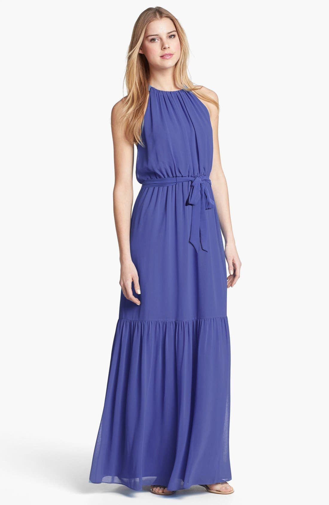 Alternate Image 1 Selected - Jessica Simpson Laser Cutout Maxi Dress