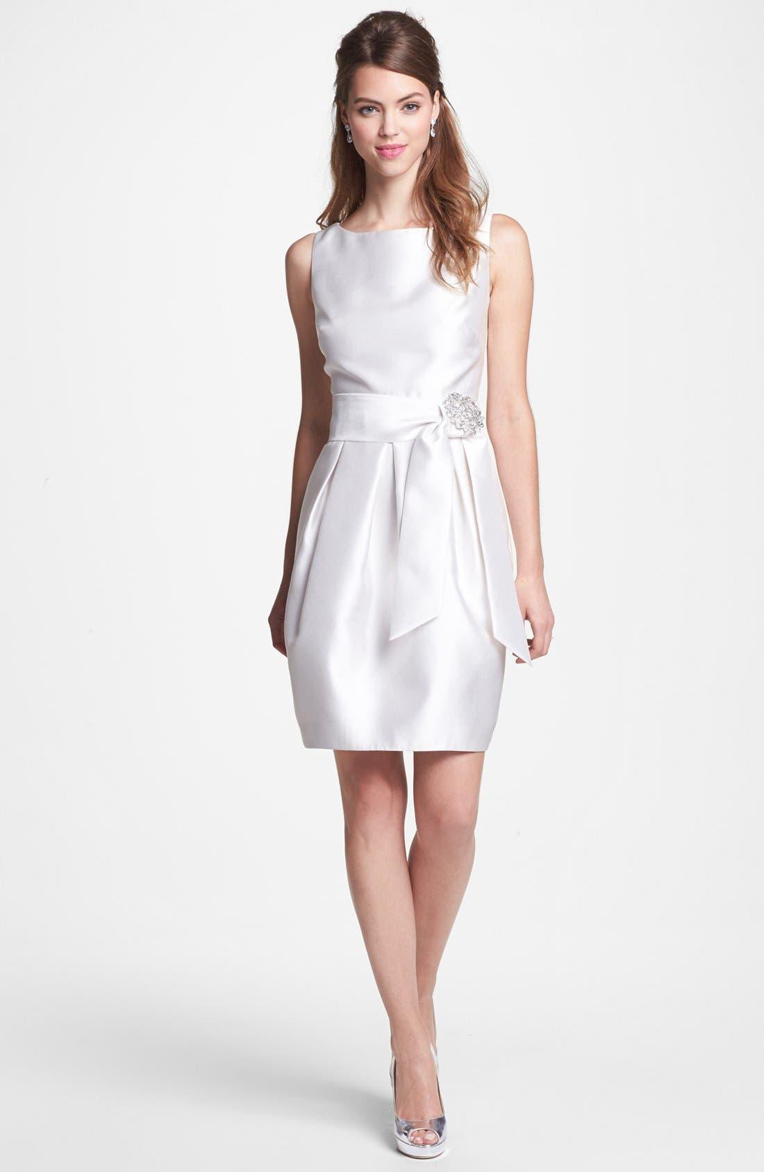 Alternate Image 4  - Eliza J Jeweled Sleeveless Satin Tulip Dress