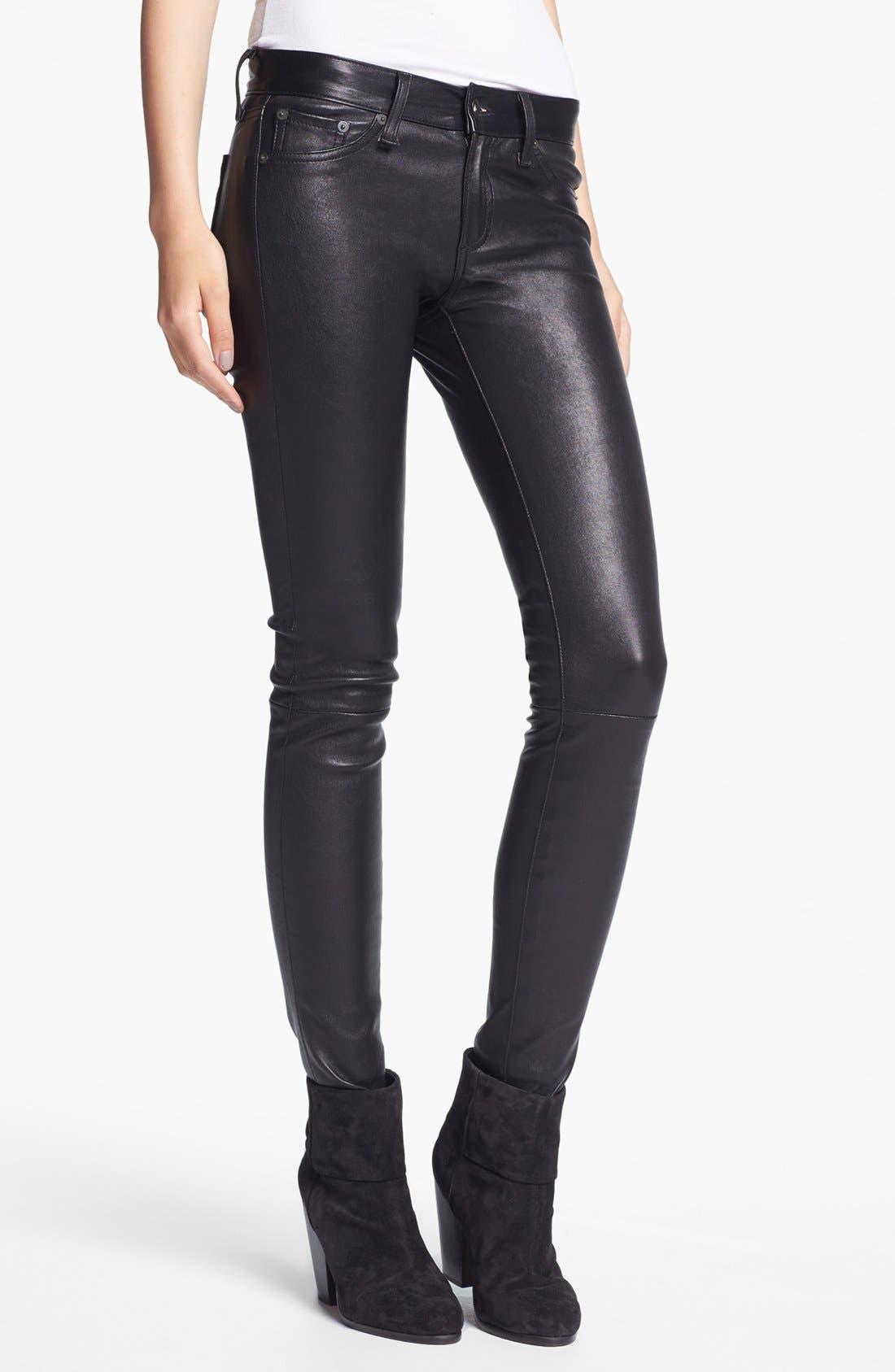 Alternate Image 1 Selected - rag & bone 'The Leather Skinny' Pants