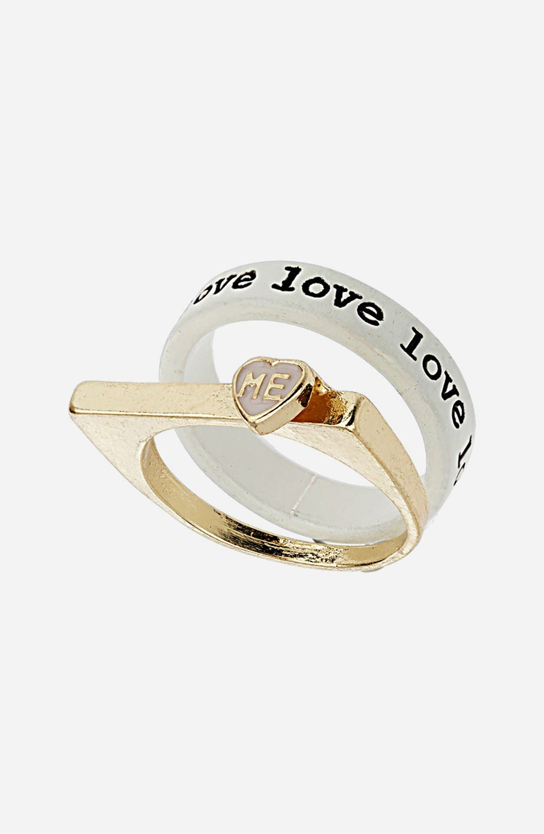 Main Image - Topshop 'Love Me' Rings (Set of 2)