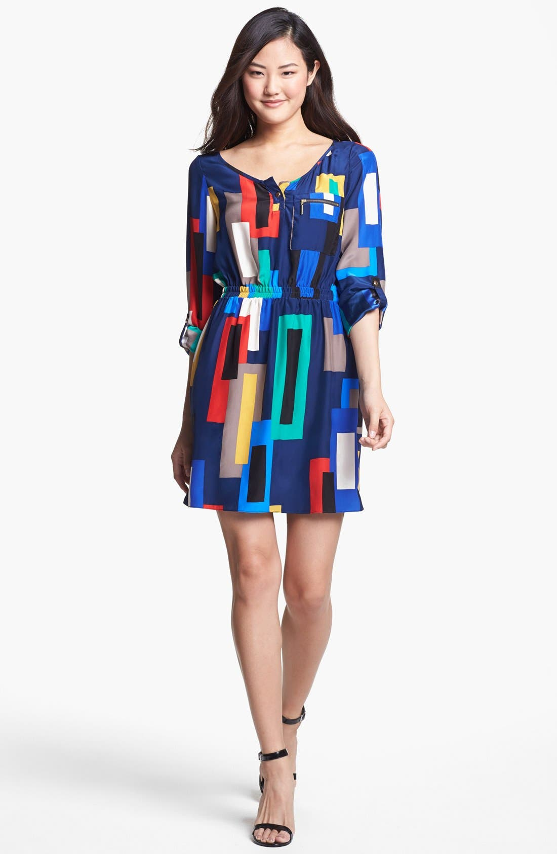 Alternate Image 1 Selected - ALICE & TRIXIE 'Danielle' Print Silk Shirtdress