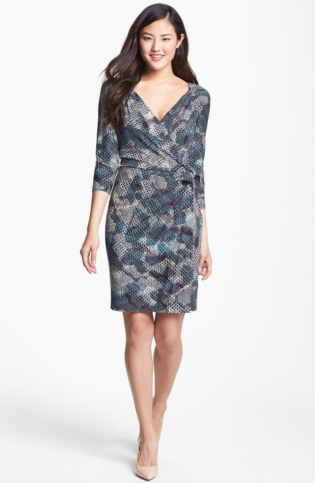 Main Image - Ivy & Blu Print Faux Wrap Dress