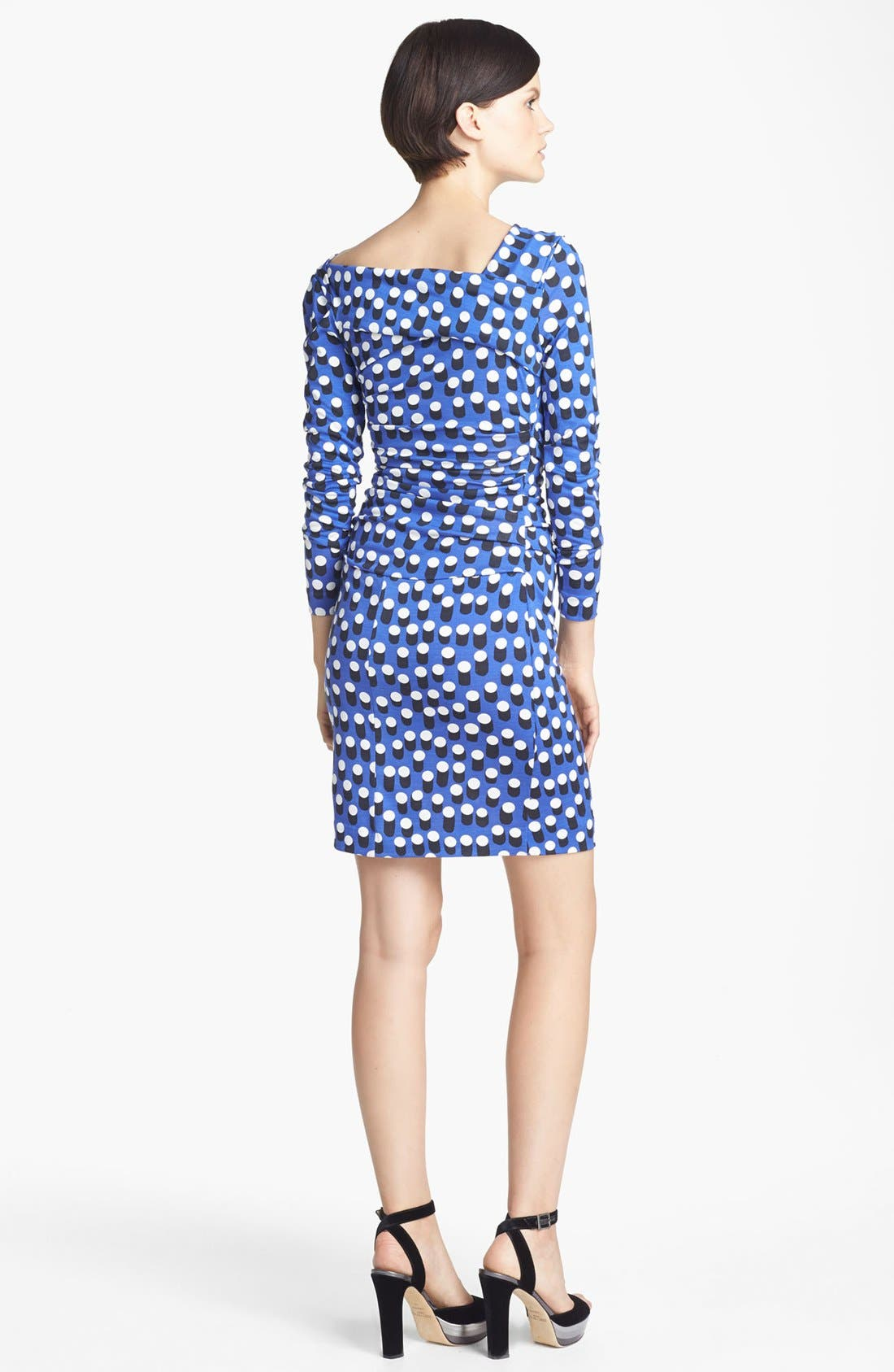 Alternate Image 2  - Diane von Furstenberg 'Bentley' Print Ruched Silk Dress