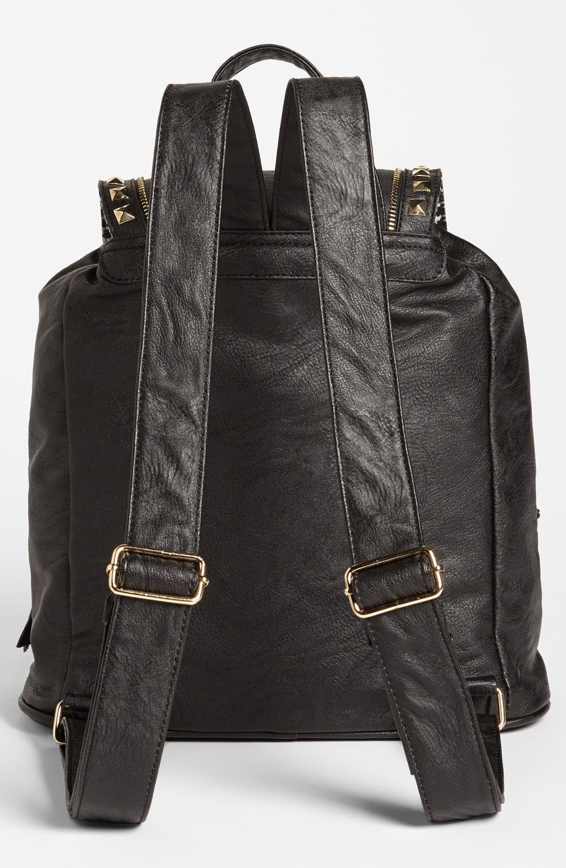 Alternate Image 3  - Cesca 'Study Buddy' Studded Faux Leather Backpack (Juniors) (Online Only)