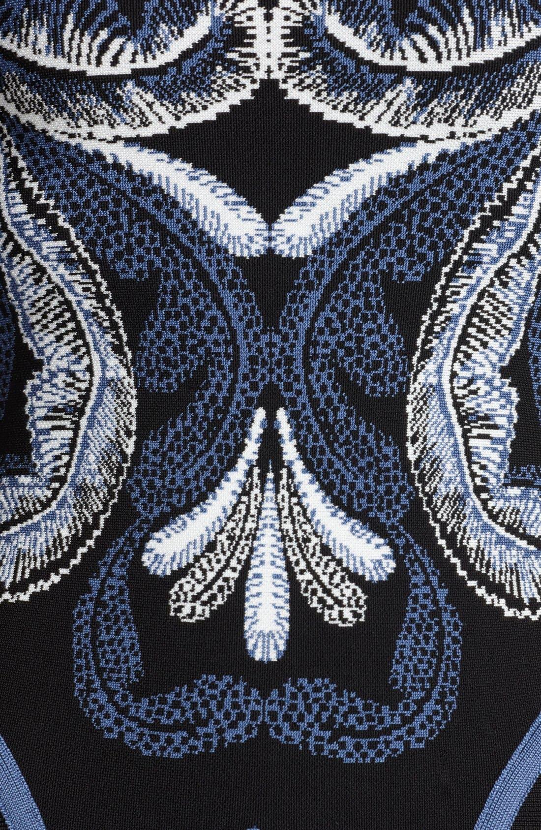 Alternate Image 2  - Herve Leger Embroidered Bandage Dress