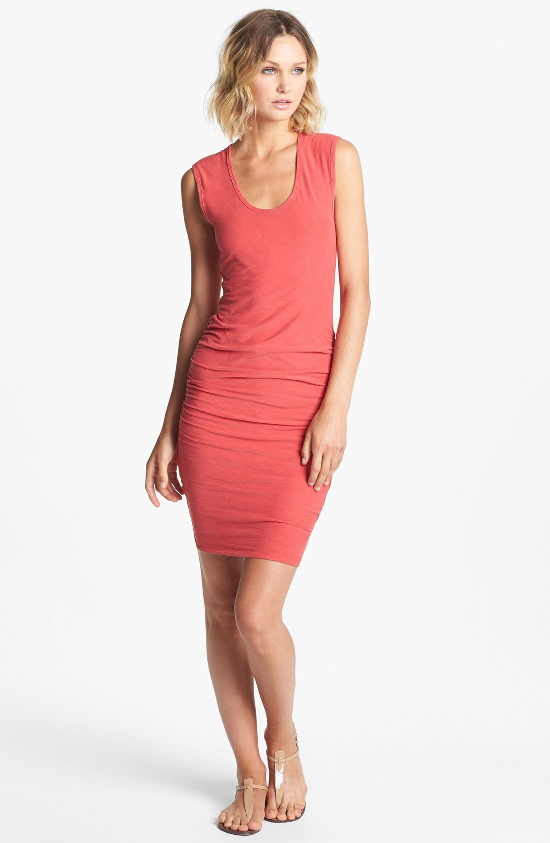 Main Image - James Perse Ruched Wide Strap Dress