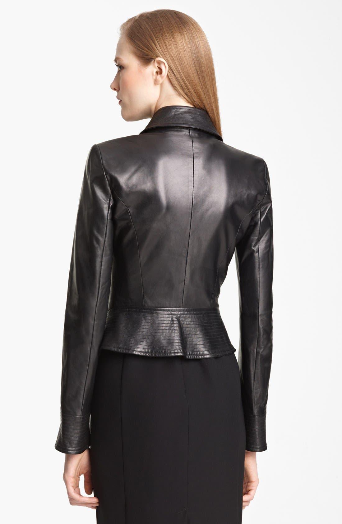 Alternate Image 3  - Armani Collezioni Nappa Leather Jacket