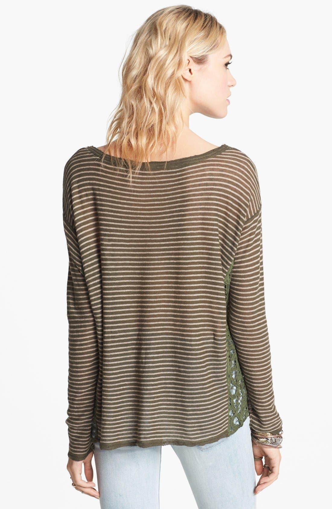 Alternate Image 2  - Free People 'Love Me Do' Stripe Pullover