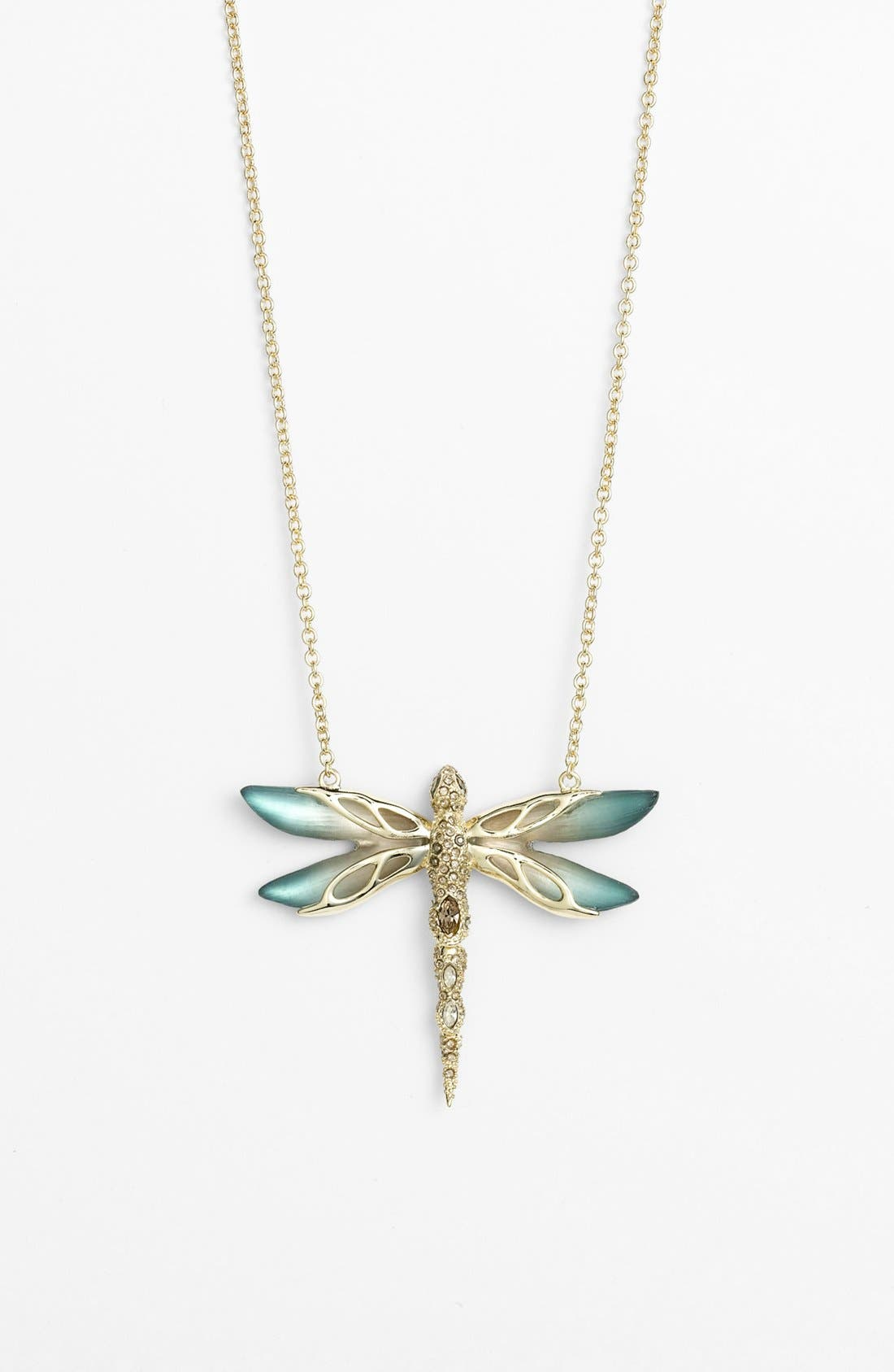Alternate Image 1 Selected - Alexis Bittar 'Lucite® - Neo Bohemian' Pavé Dragonfly Pendant Necklace