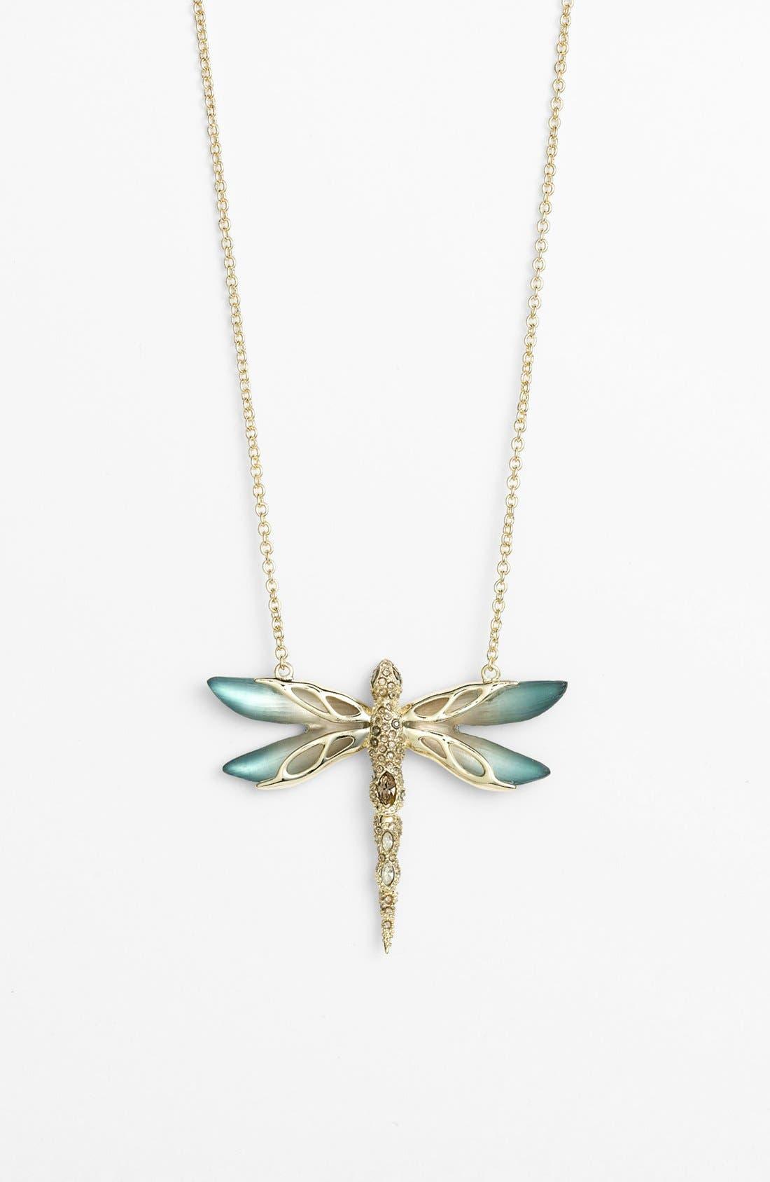 Main Image - Alexis Bittar 'Lucite® - Neo Bohemian' Pavé Dragonfly Pendant Necklace