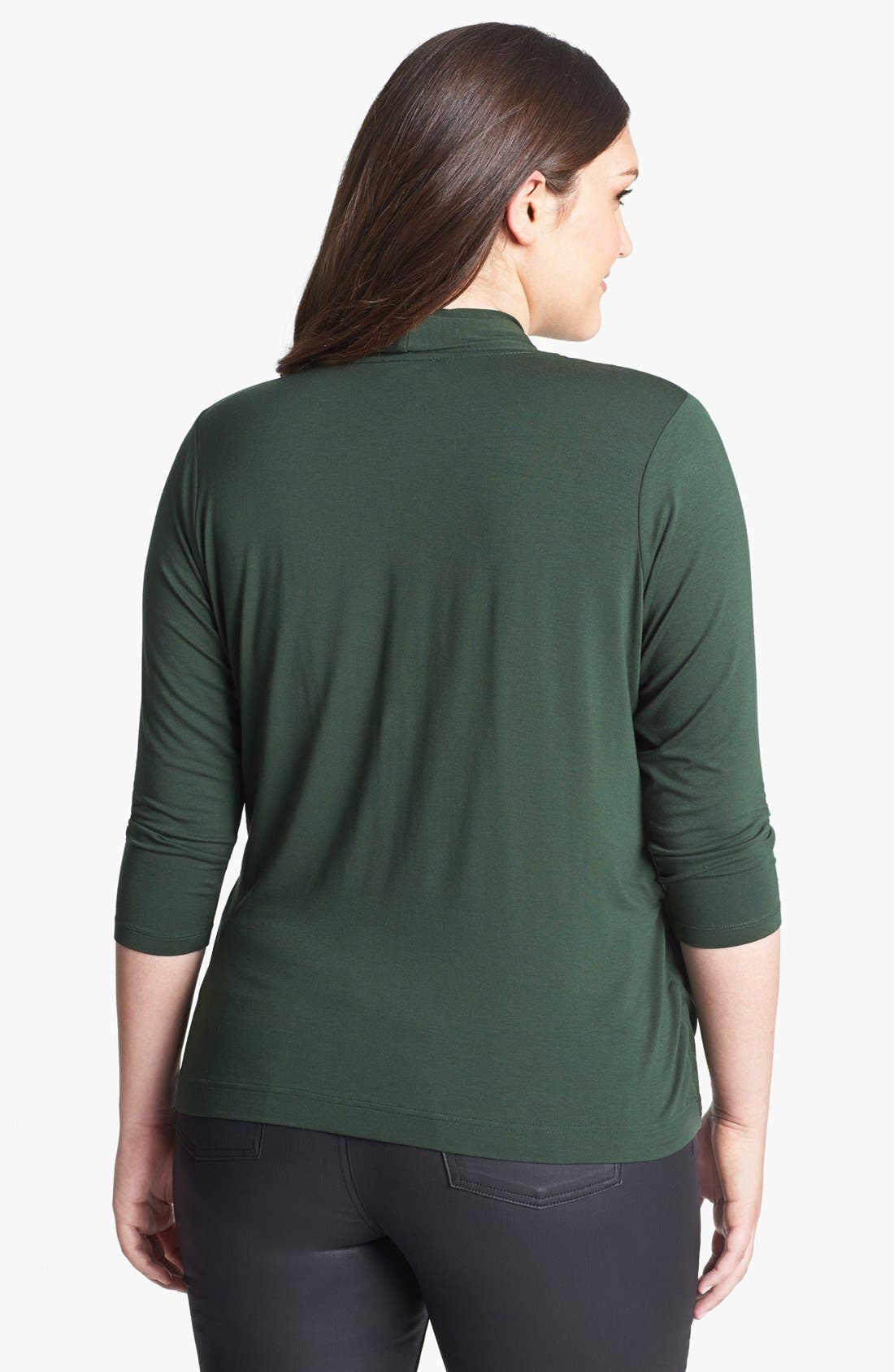 Alternate Image 3  - Vince Camuto Jersey Wrap Top (Plus Size)
