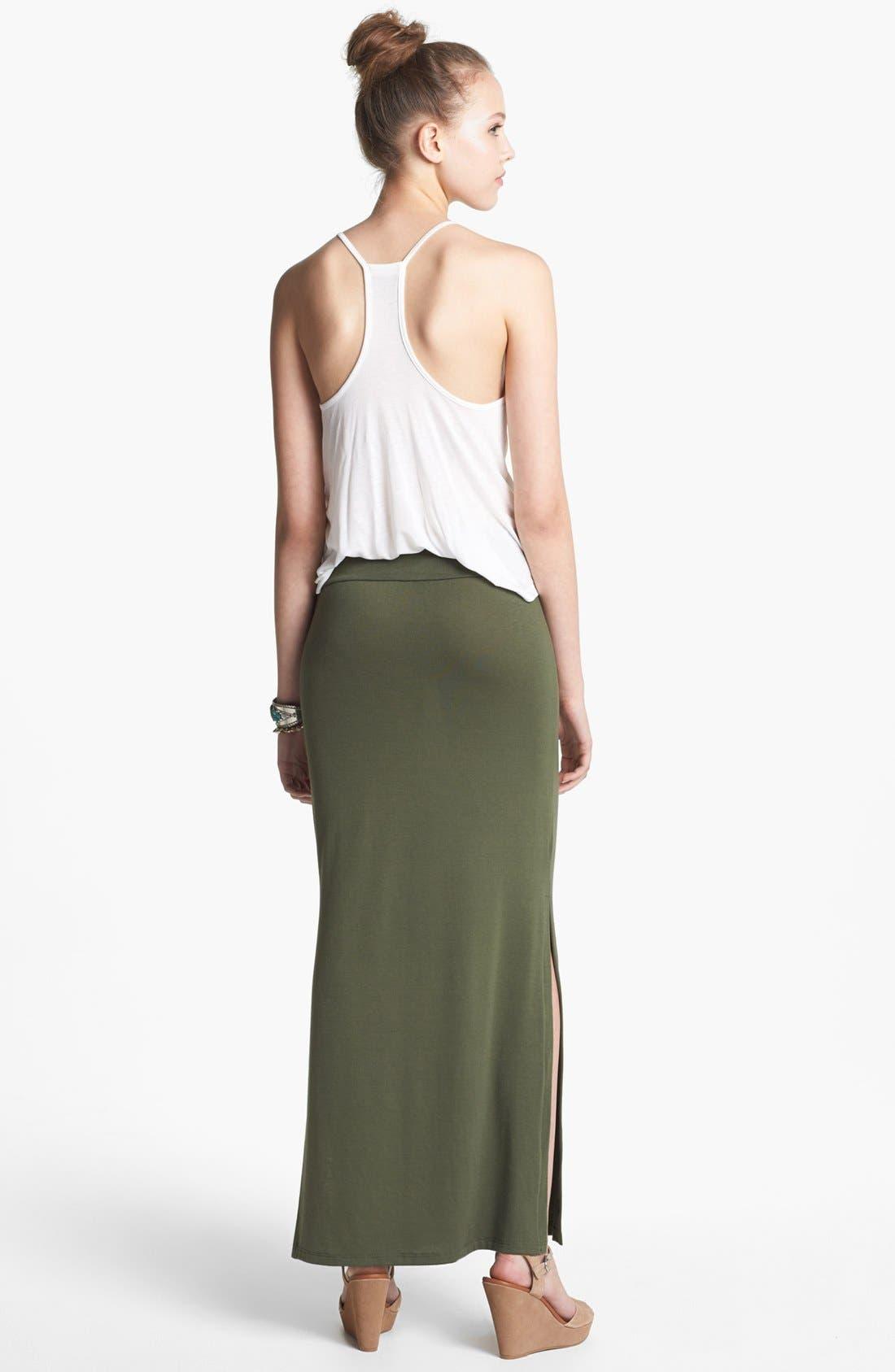 Alternate Image 2  - Lily White Maxi Skirt (Juniors)