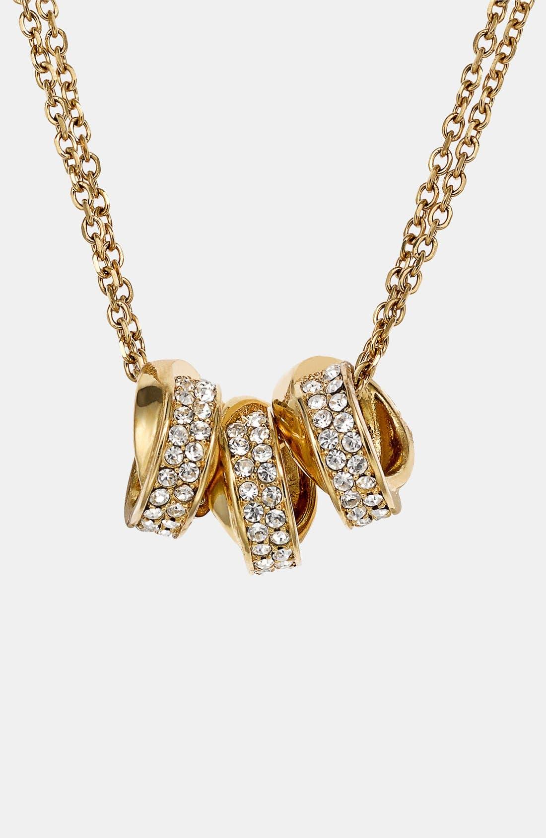 Main Image - Michael Kors 'Brilliance' Double Chain Necklace