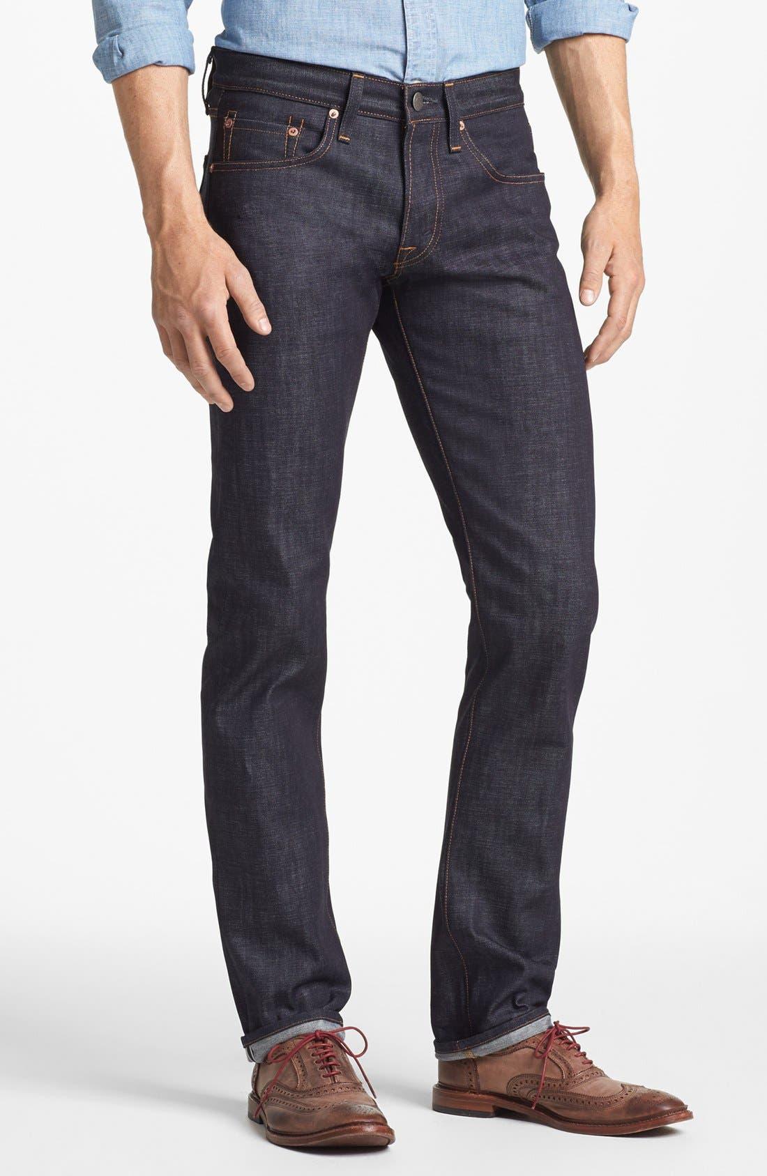 Alternate Image 1 Selected - J Brand 'Tyler' Slim Fit Jeans (Raw Selvedge)