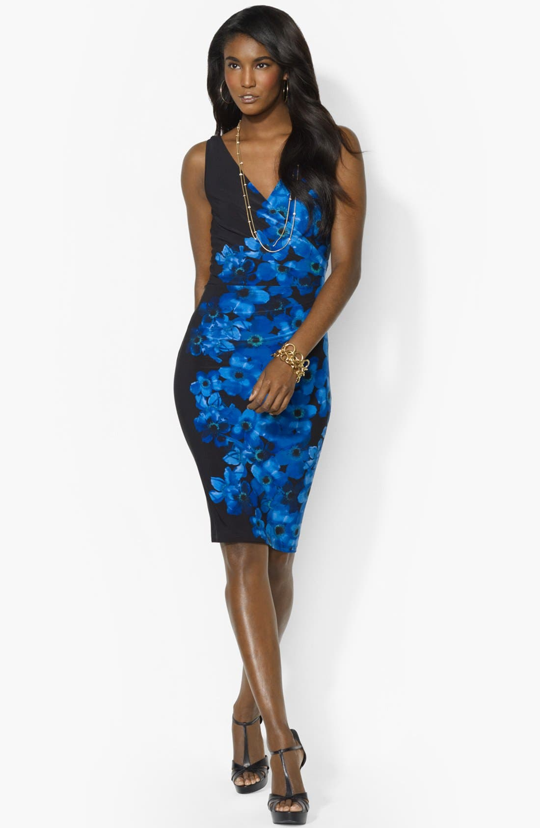 Alternate Image 1 Selected - Lauren Ralph Lauren Print Jersey Sheath Dress