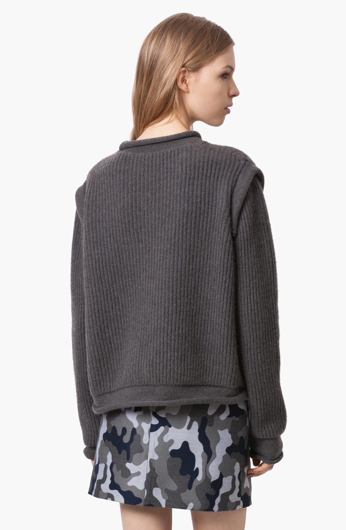 Alternate Image 3  - Christopher Kane Ribbed Cashmere Sweater