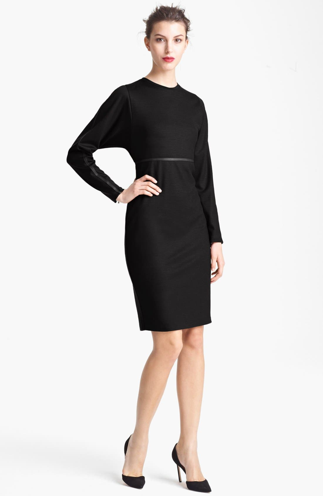 Main Image - Max Mara Crewneck Virgin Wool Dress